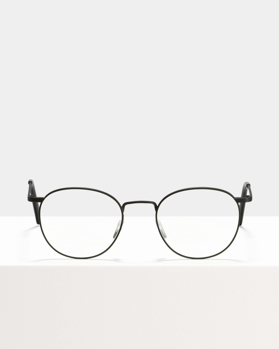 Neil Small metal glasses in Matte Black by Ace & Tate