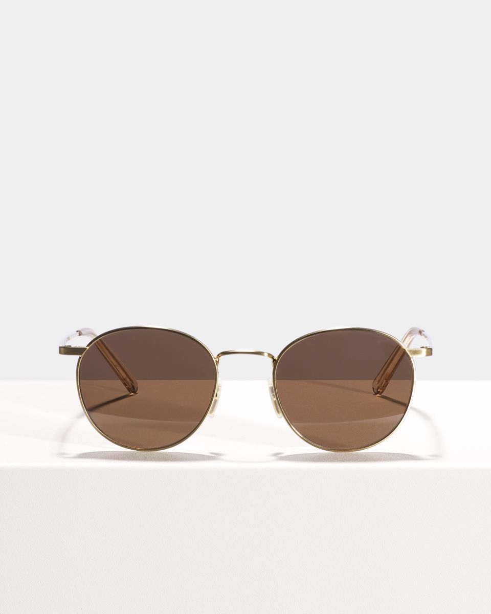 Neil Small métal glasses in Satin Gold by Ace & Tate
