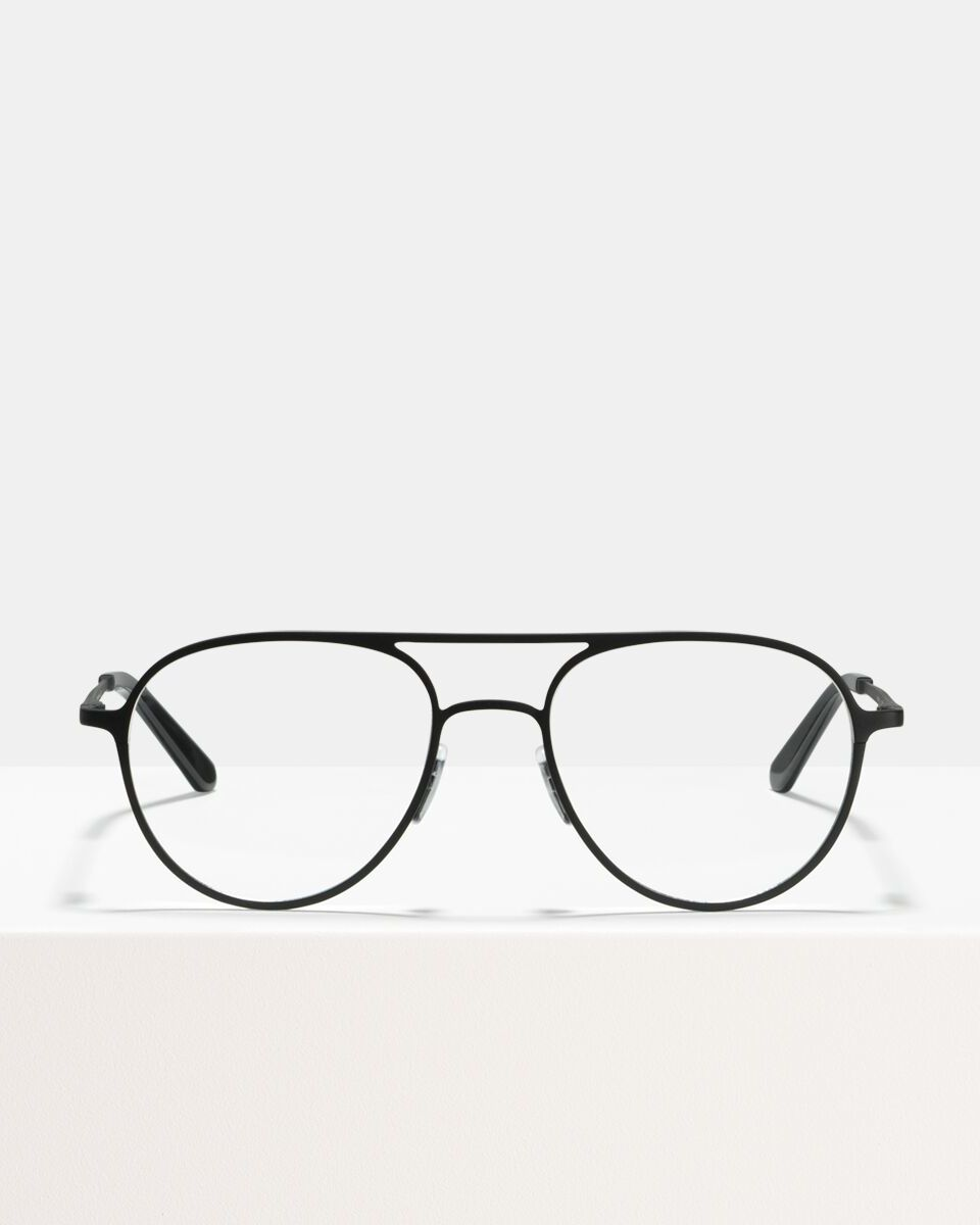 Igor Large metal glasses in Matte Black by Ace & Tate