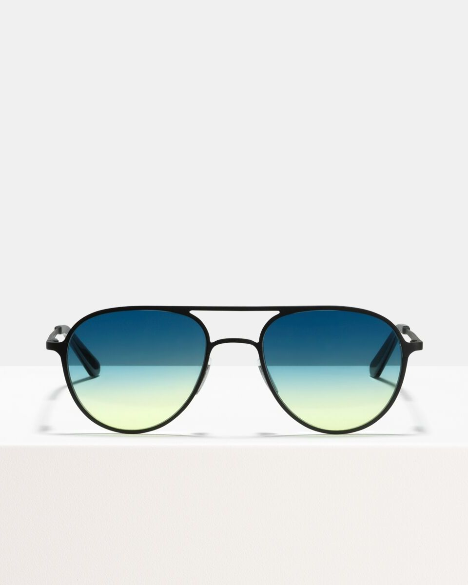 Igor Large metal glasses in Matte Black Horizon by Ace & Tate