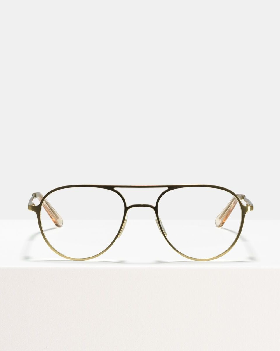 Igor Large metal glasses in Satin Gold by Ace & Tate
