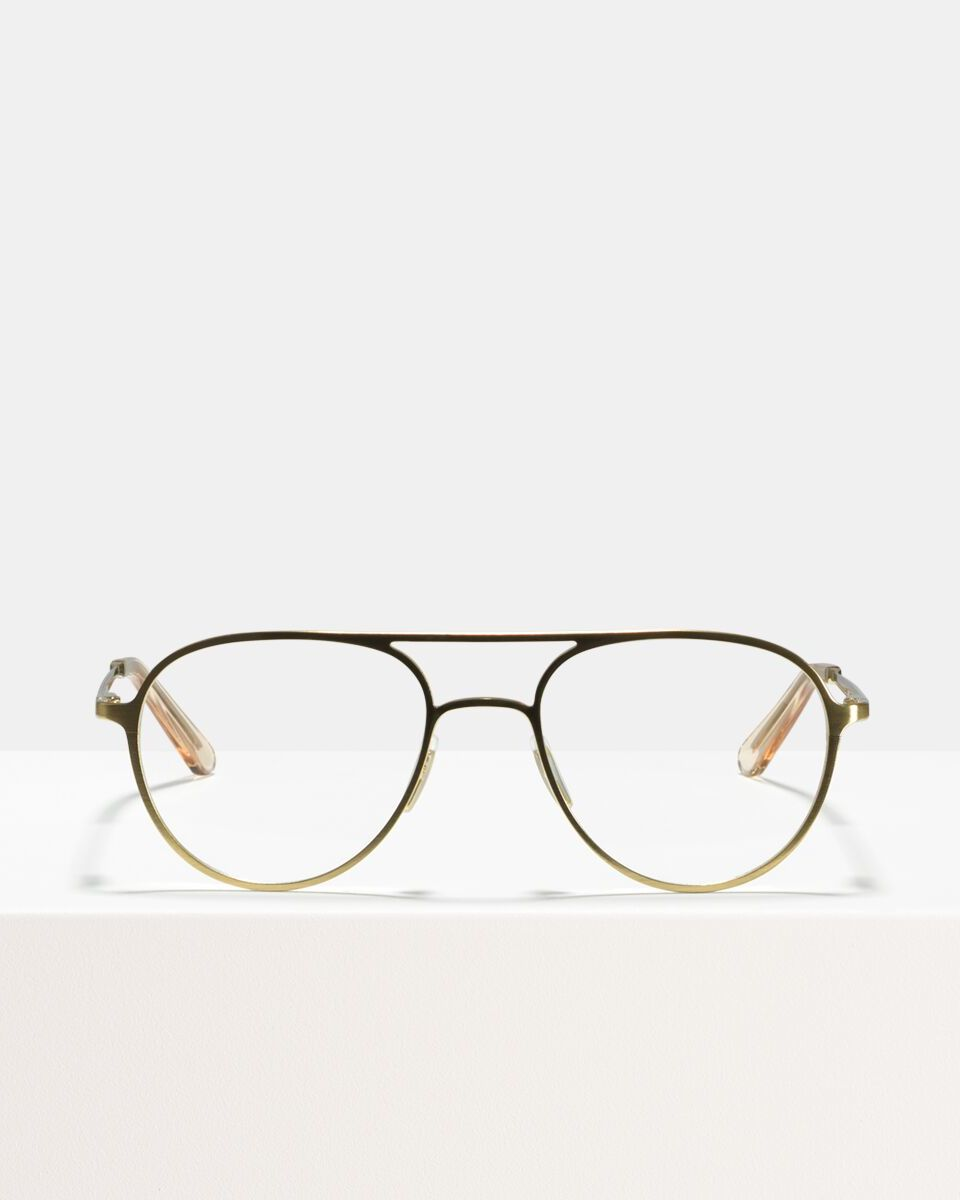 Igor Large métal glasses in Satin Gold by Ace & Tate