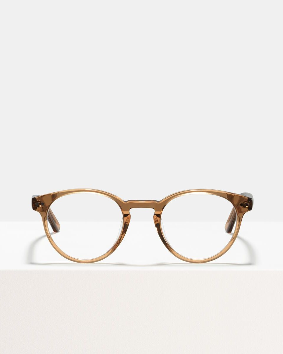 Pierce Large acetaat glasses in Golden Brown by Ace & Tate