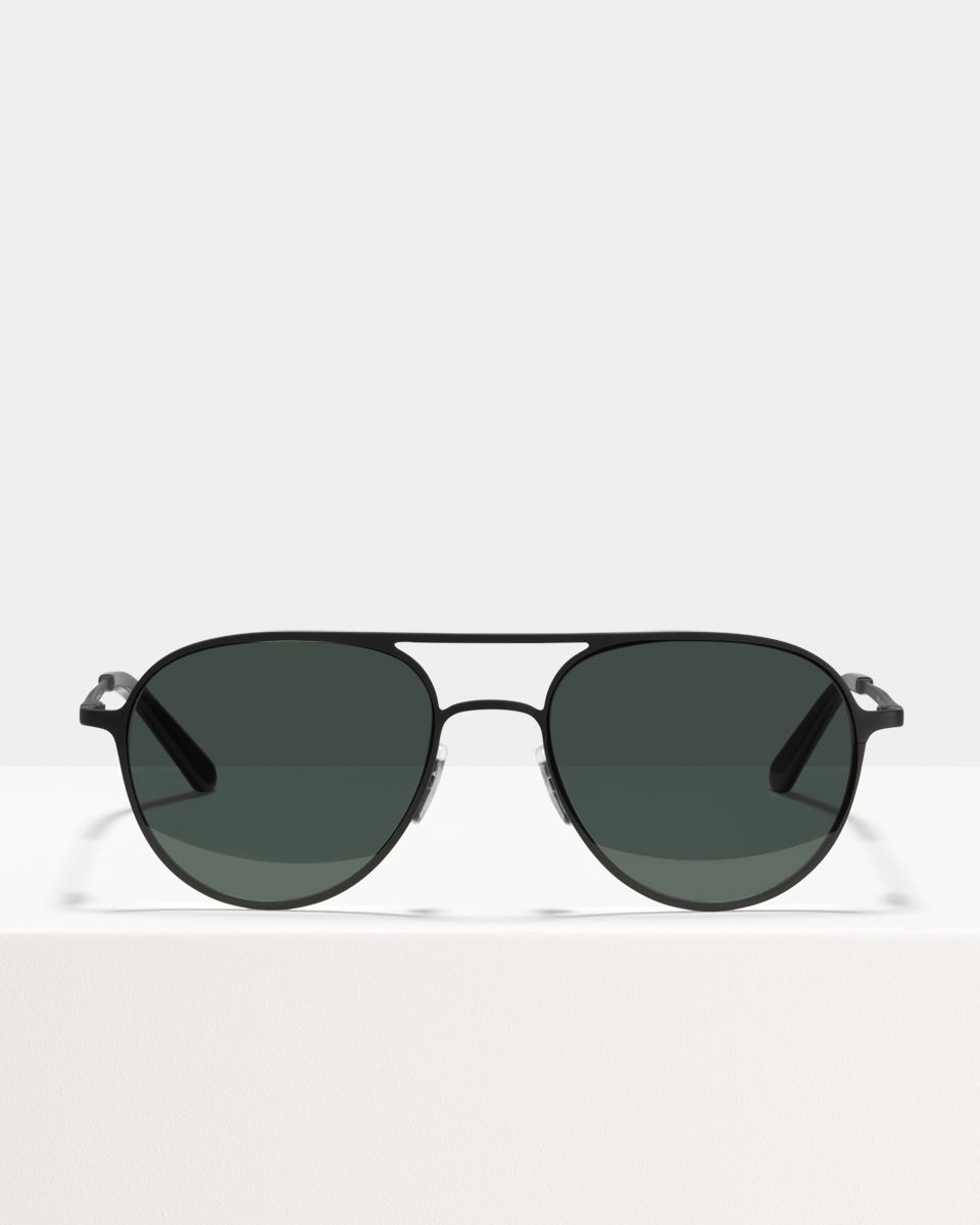 Igor Large métal glasses in Matte Black by Ace & Tate