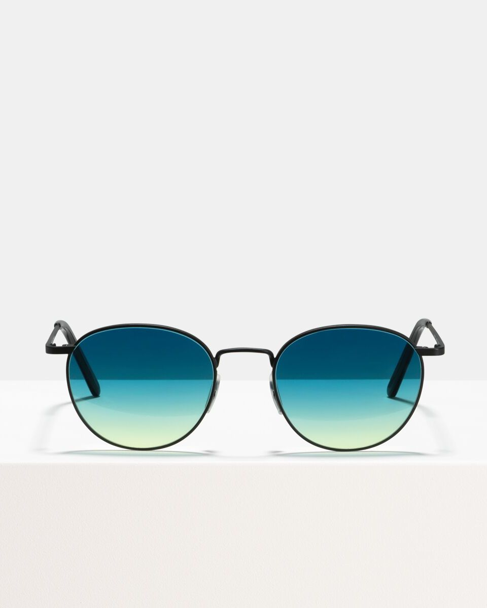 Neil Large metal glasses in Matte Black Horizon by Ace & Tate