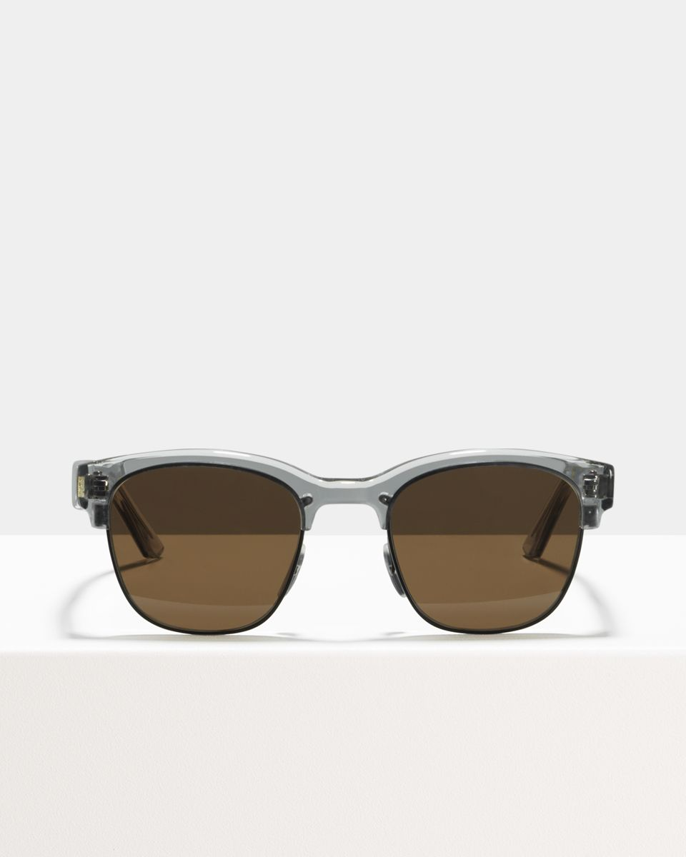 Jules Small metal glasses in Matte Black Smoke by Ace & Tate