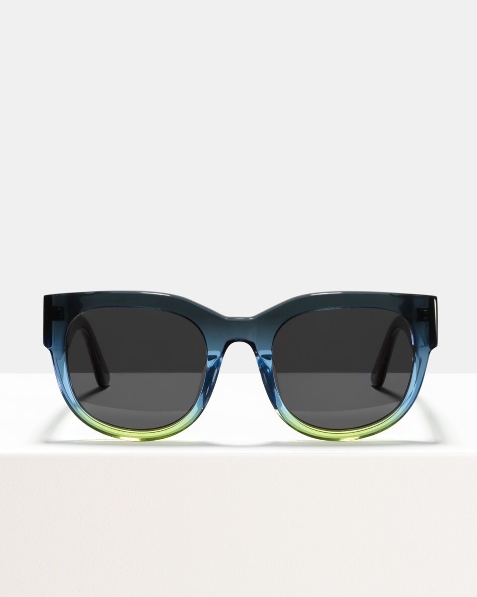 Ace & Tate Sunglasses | rund Acetat in Blau, Gelb
