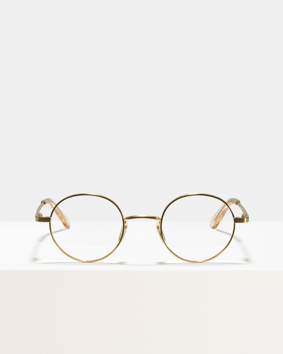 Liam metal glasses in Satin Gold by Ace & Tate