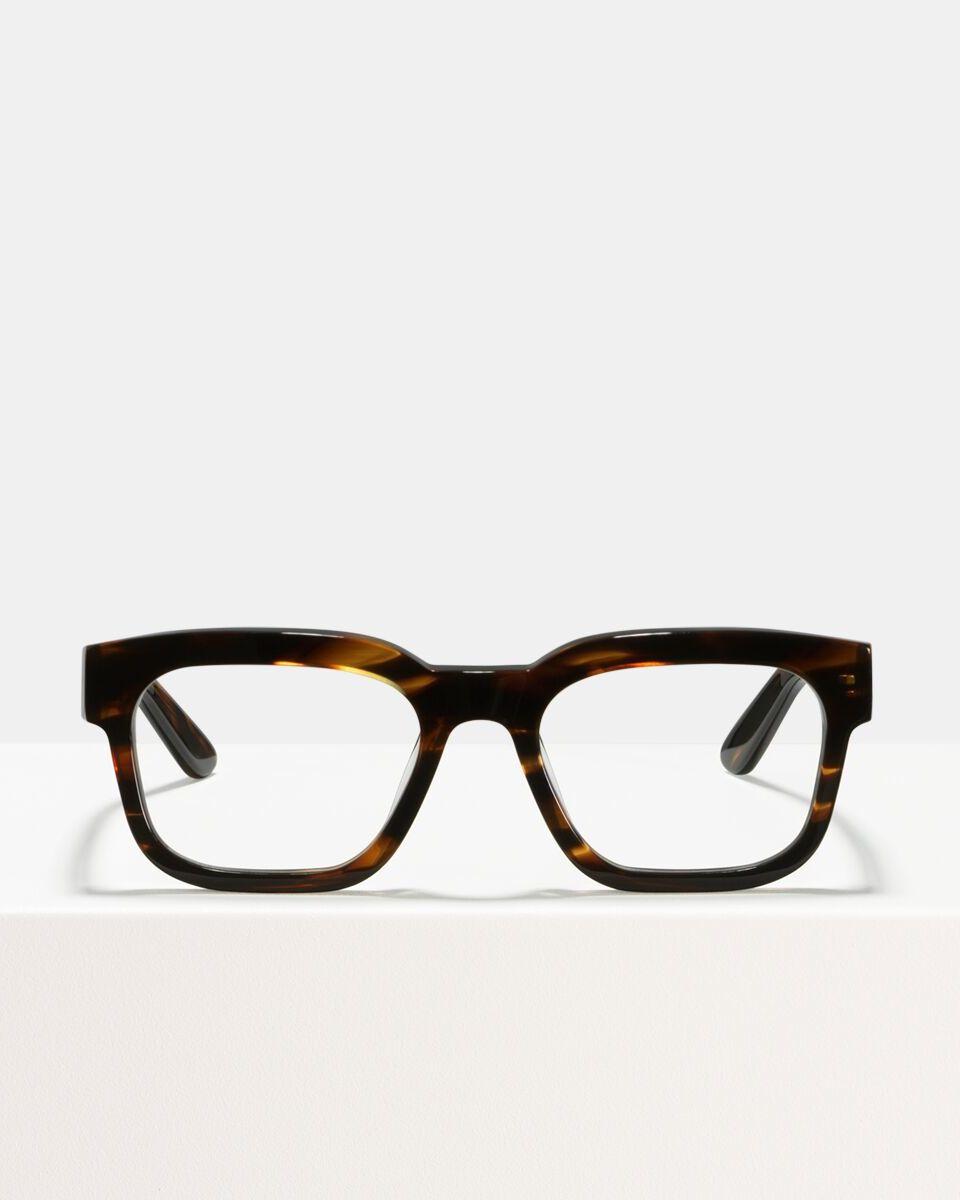 Ace & Tate Glasses | rectangle acetate in Brown, Orange