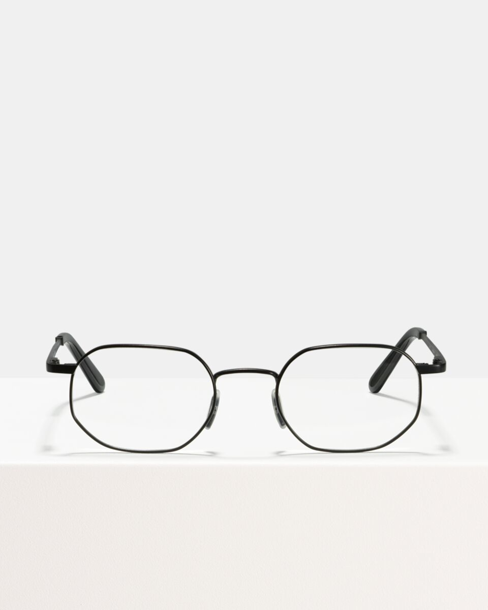 Ace & Tate Glasses | rectangle metal in Black