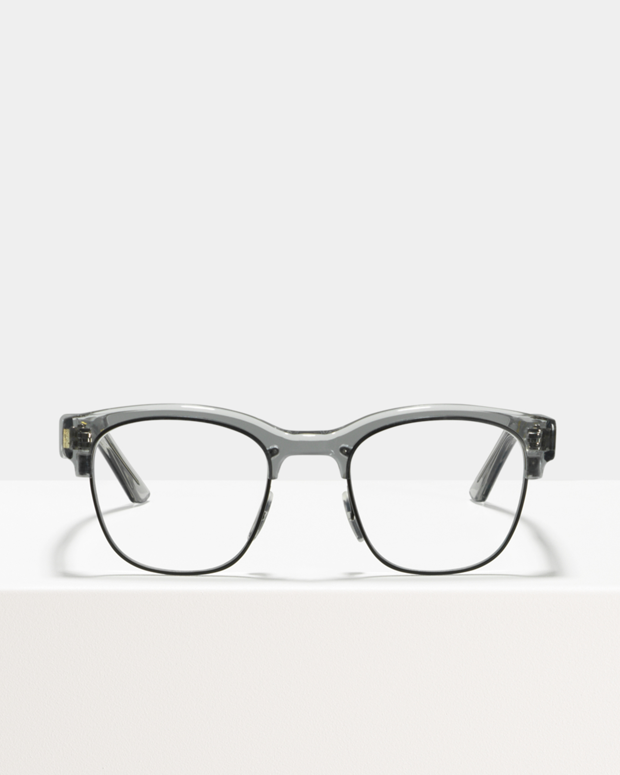 Ace & Tate Glasses | square metal in Clear, Grey