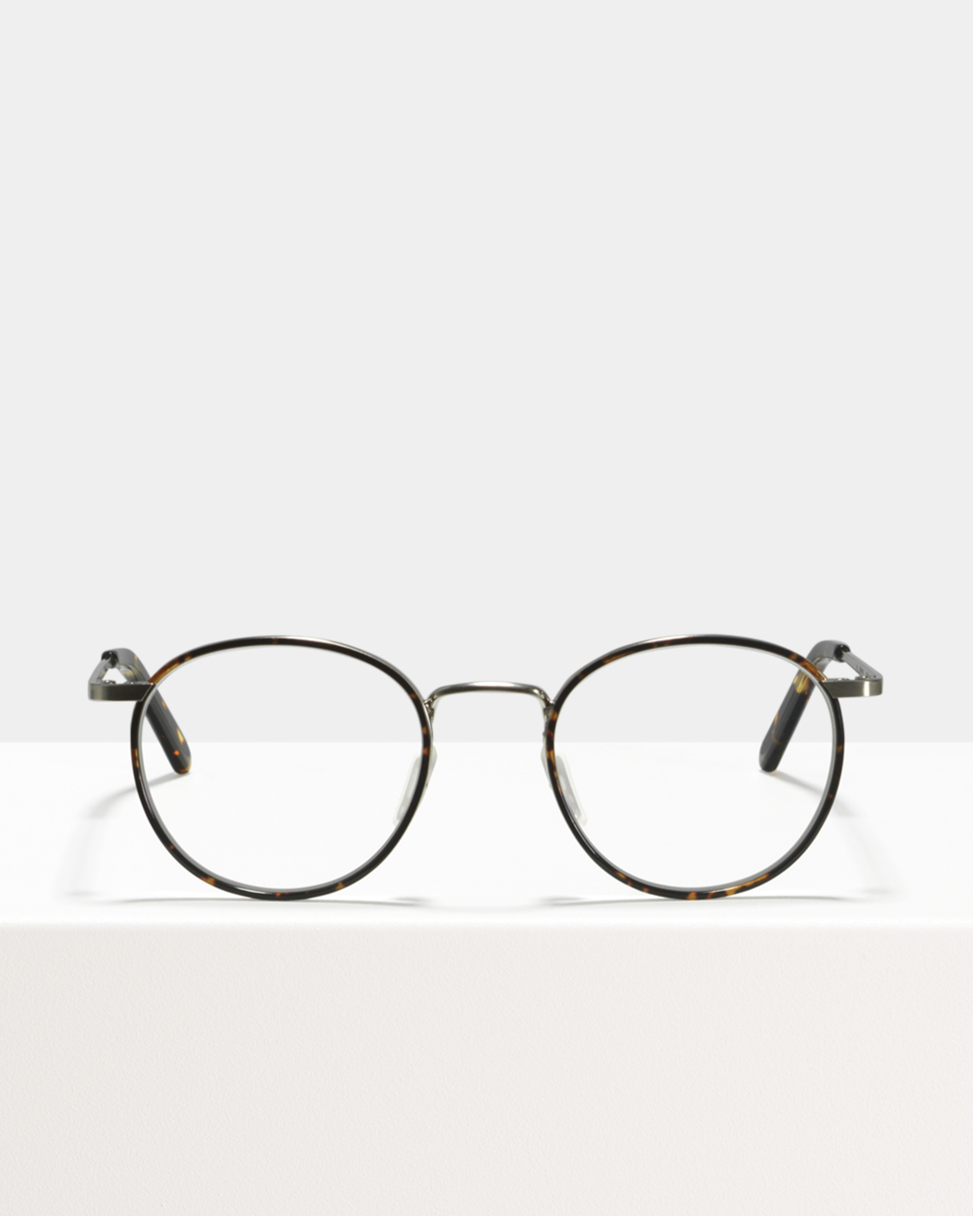 Ace & Tate Glasses | round metal in Brown, Orange, Silver