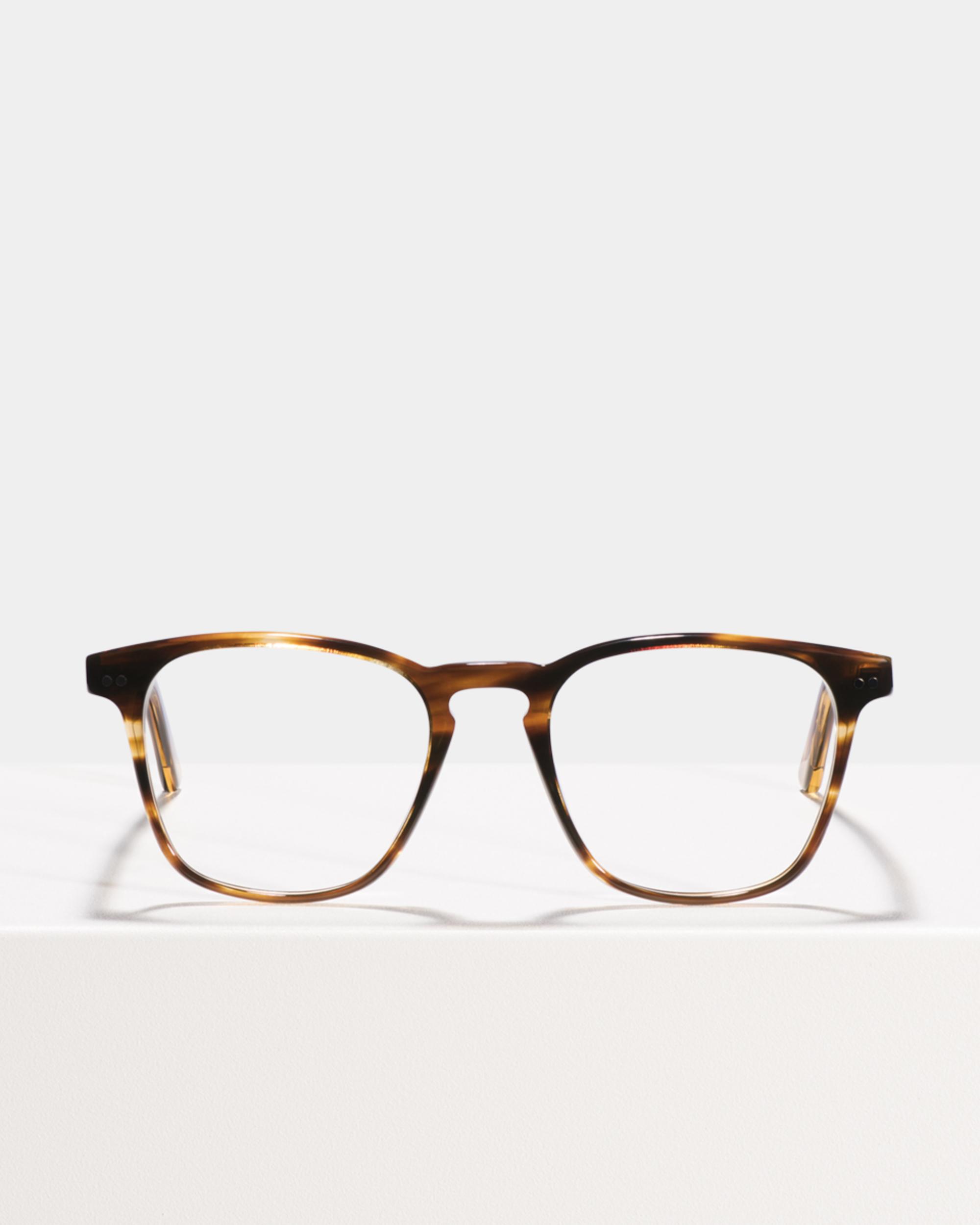 Ace & Tate Glasses | vierkant acetaat in Bruin, Oranje