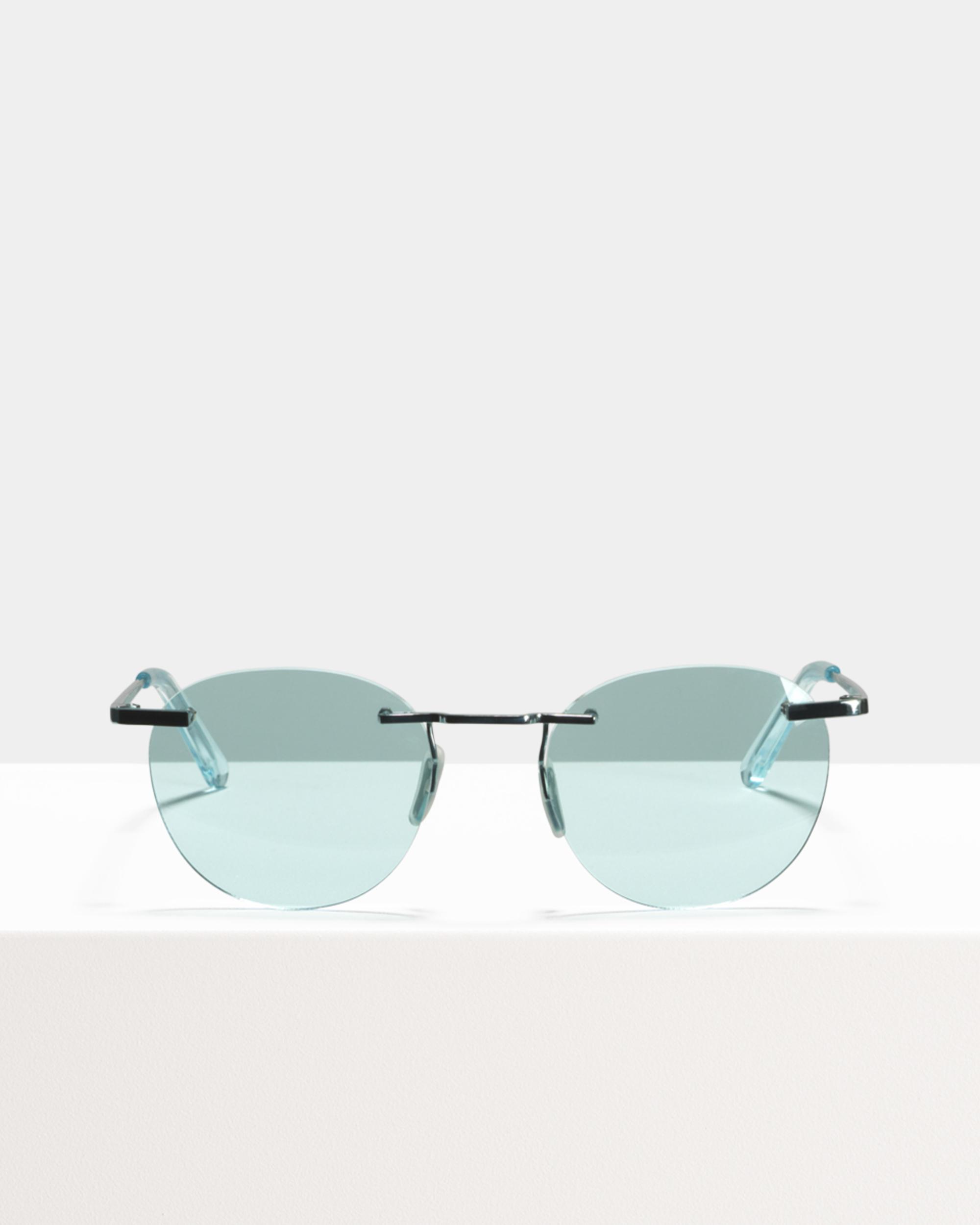 Ace & Tate Sunglasses | rund Titan in Blau