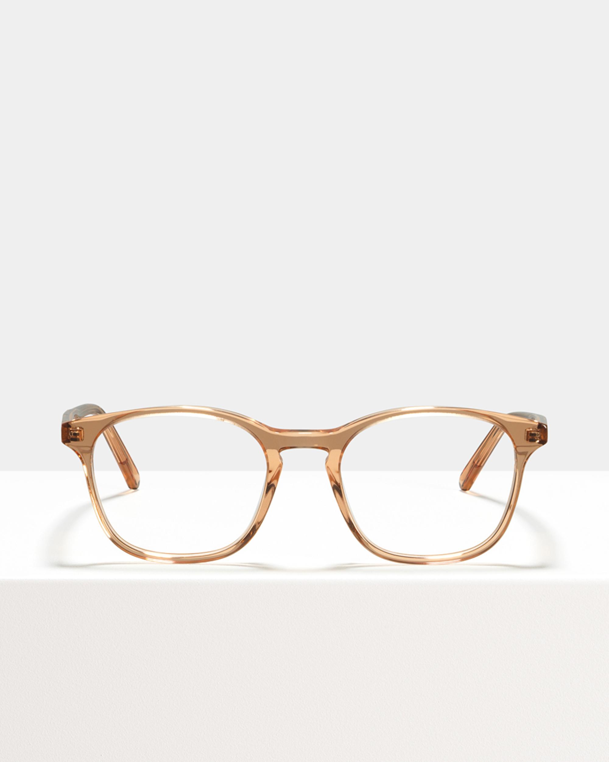 Ace & Tate Glasses | square acetate in Orange