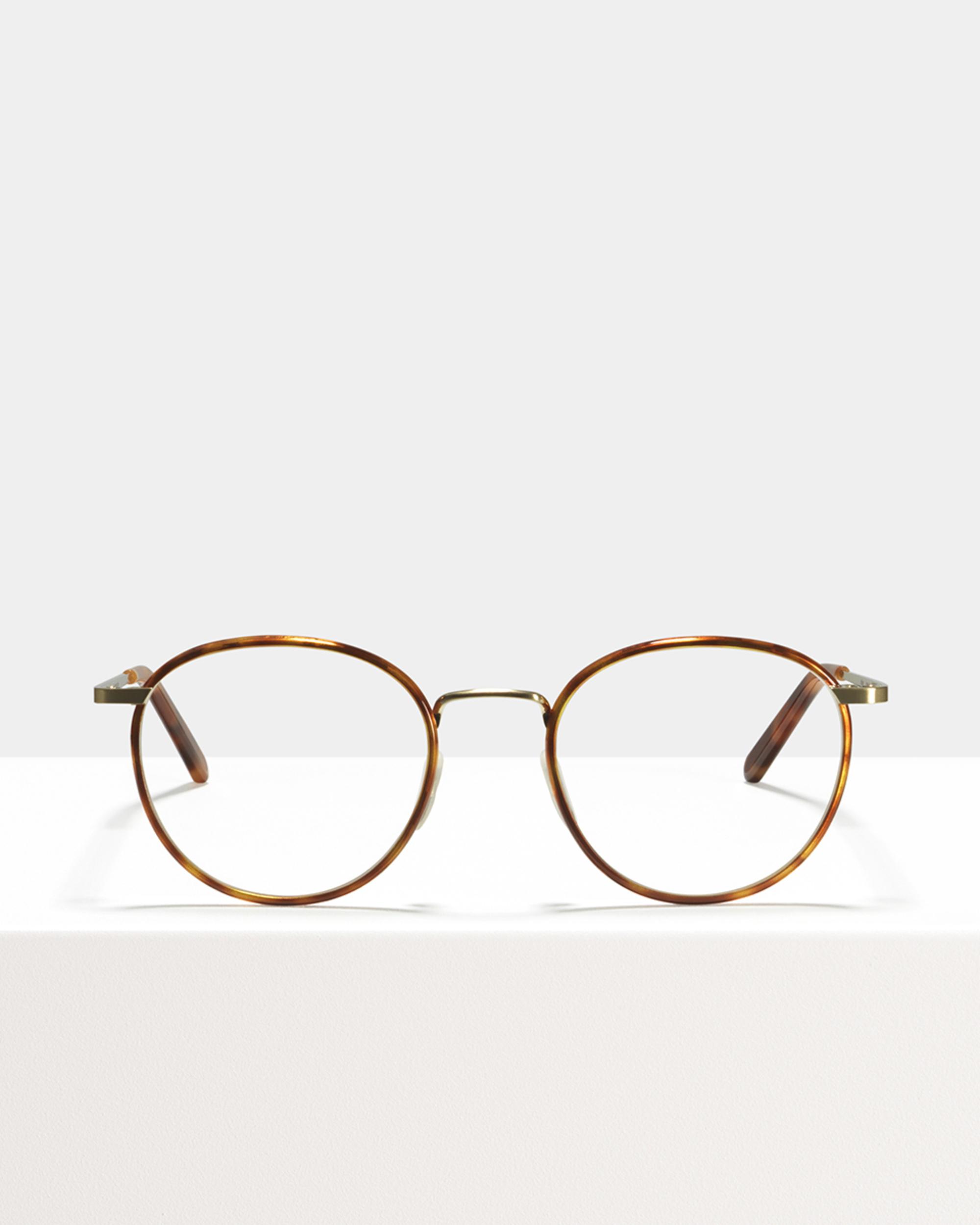 Ace & Tate Glasses | rond metaal in Bruin, Goud, Oranje