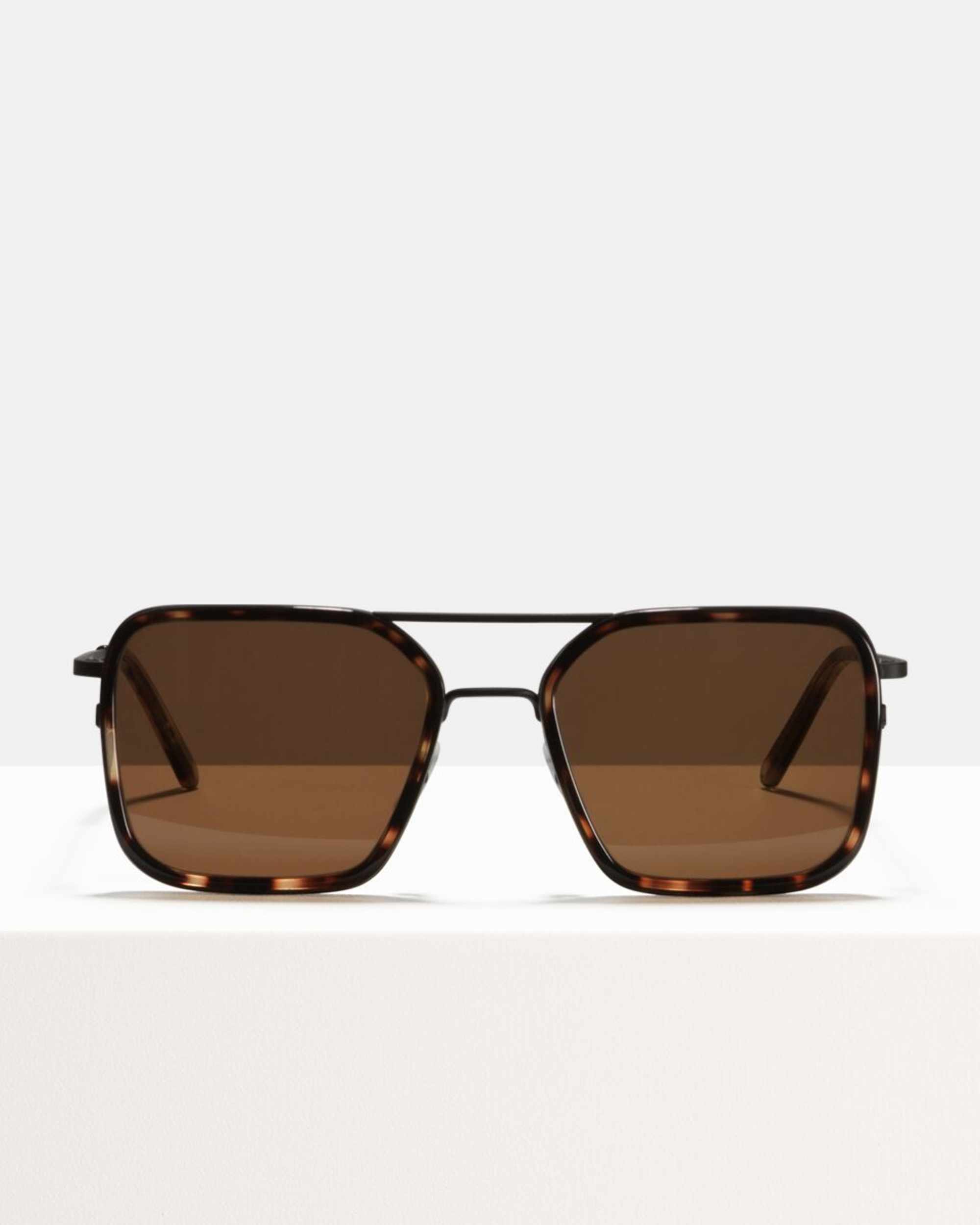 Ace & Tate Sunglasses | square combi in Black, Brown