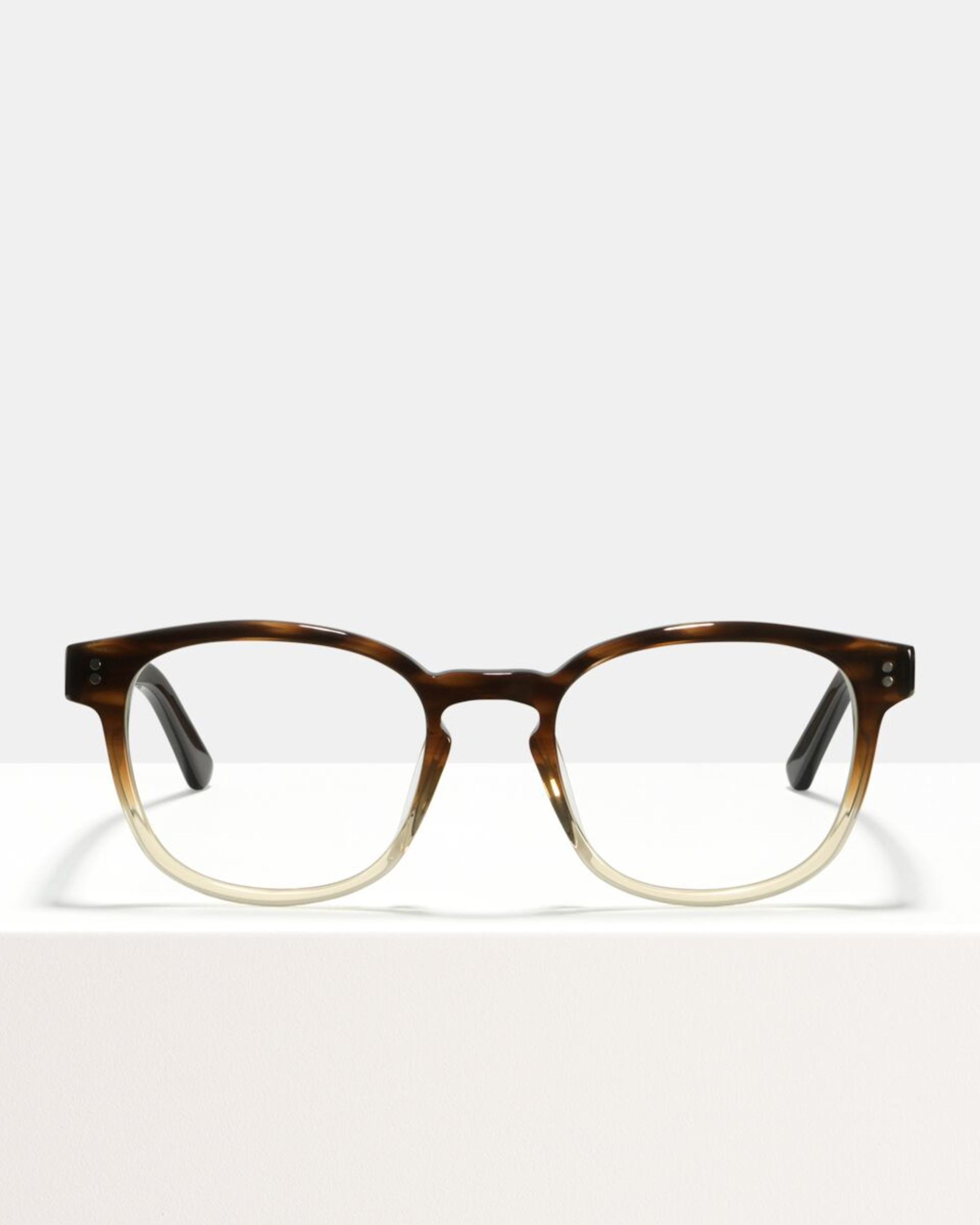 Ace & Tate Glasses | square acetate in Beige, Brown, Clear
