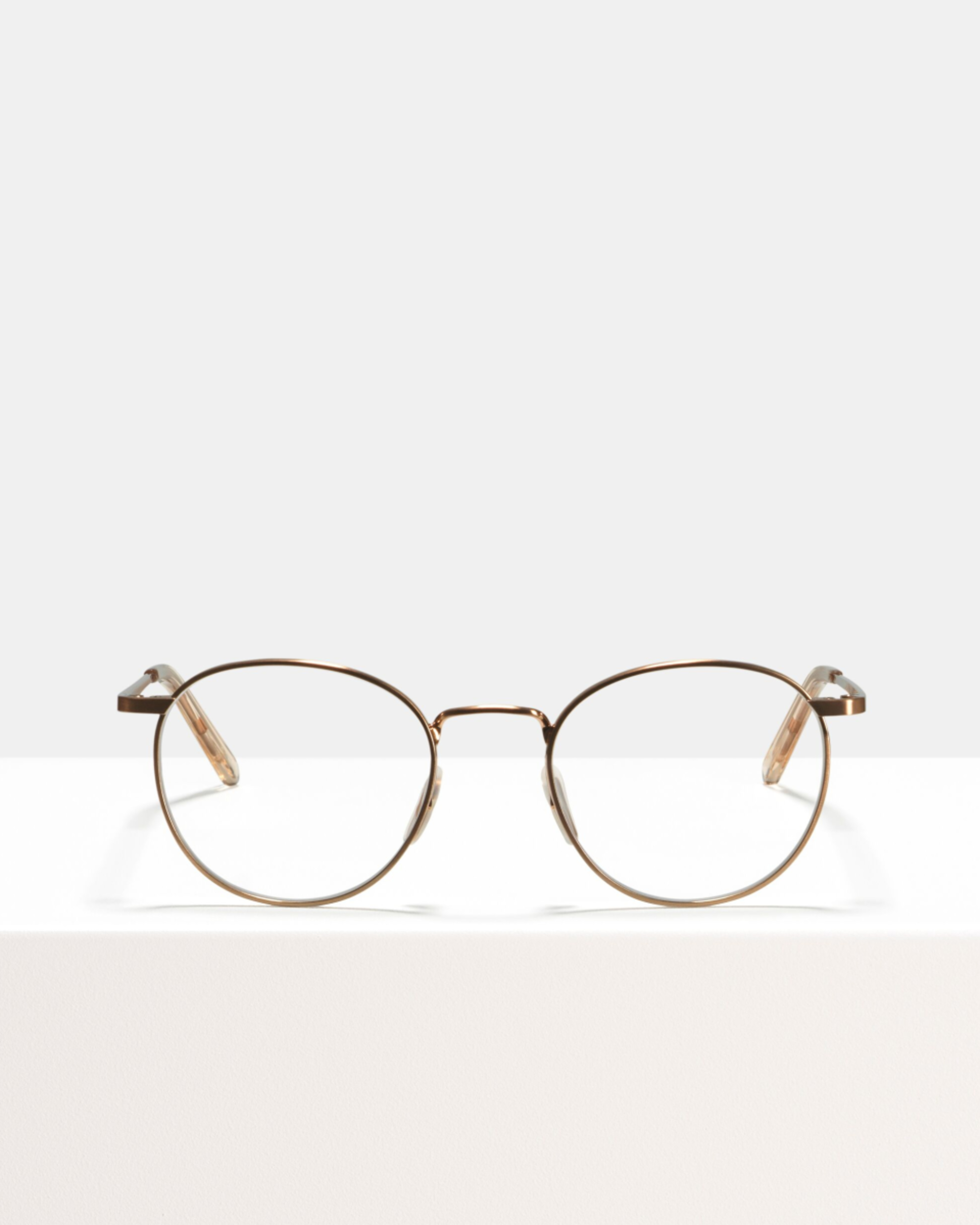 Ace & Tate Glasses | round metal in Gold, Pink