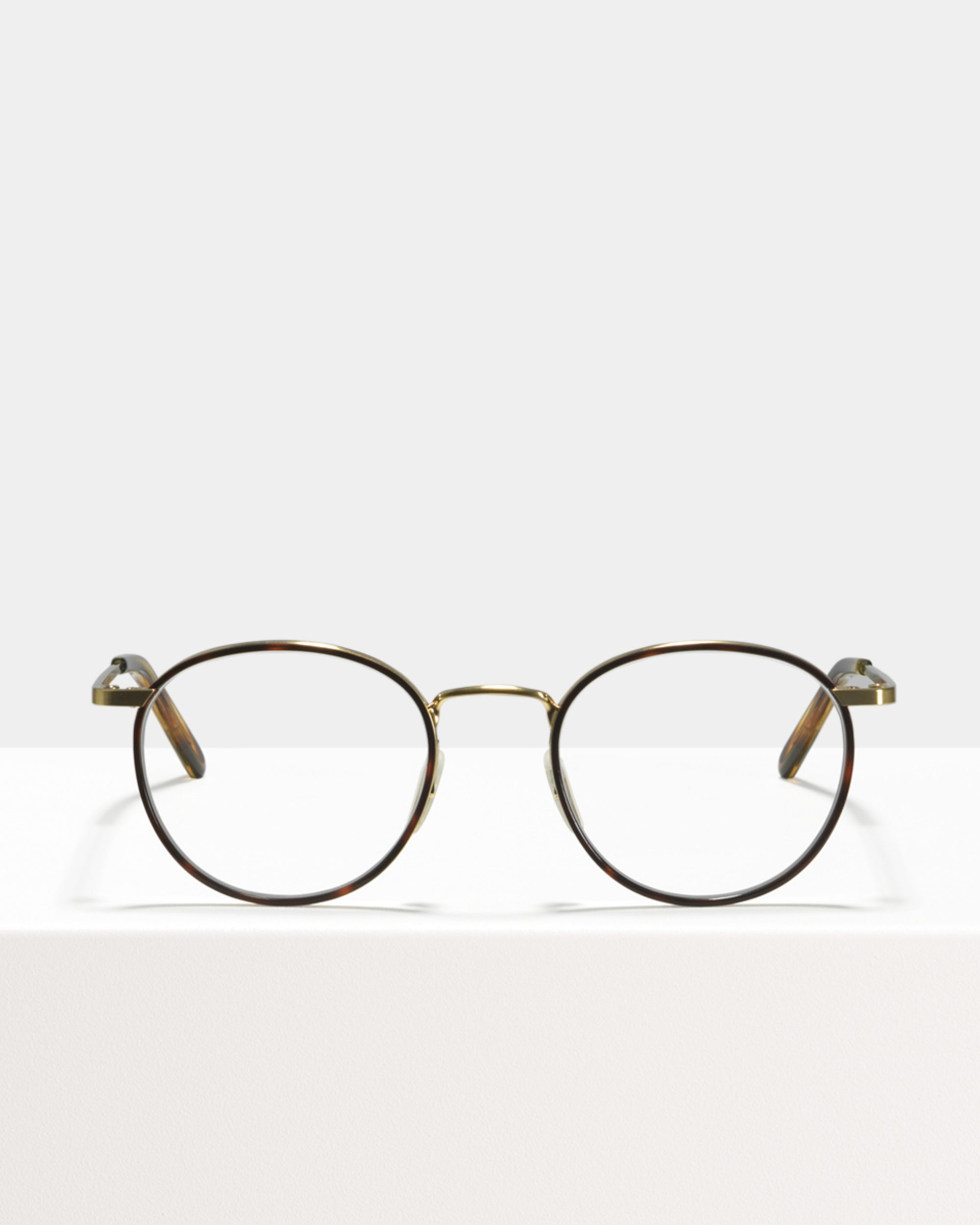 Ace & Tate Glasses | round metal in Brown, multicolor, tortoise, Yellow