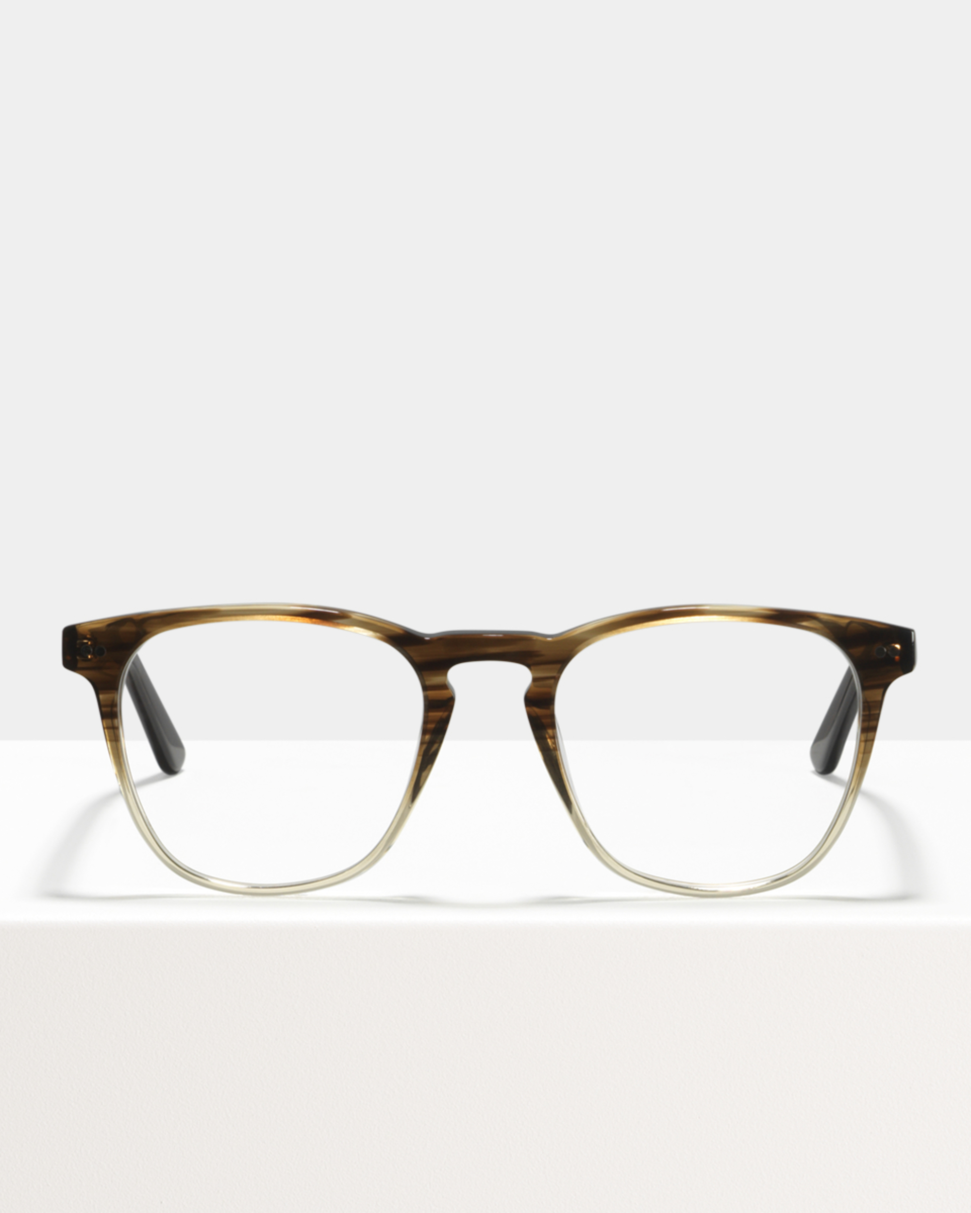 Ace & Tate Glasses | vierkant acetaat in Bruin, Doorzichtig