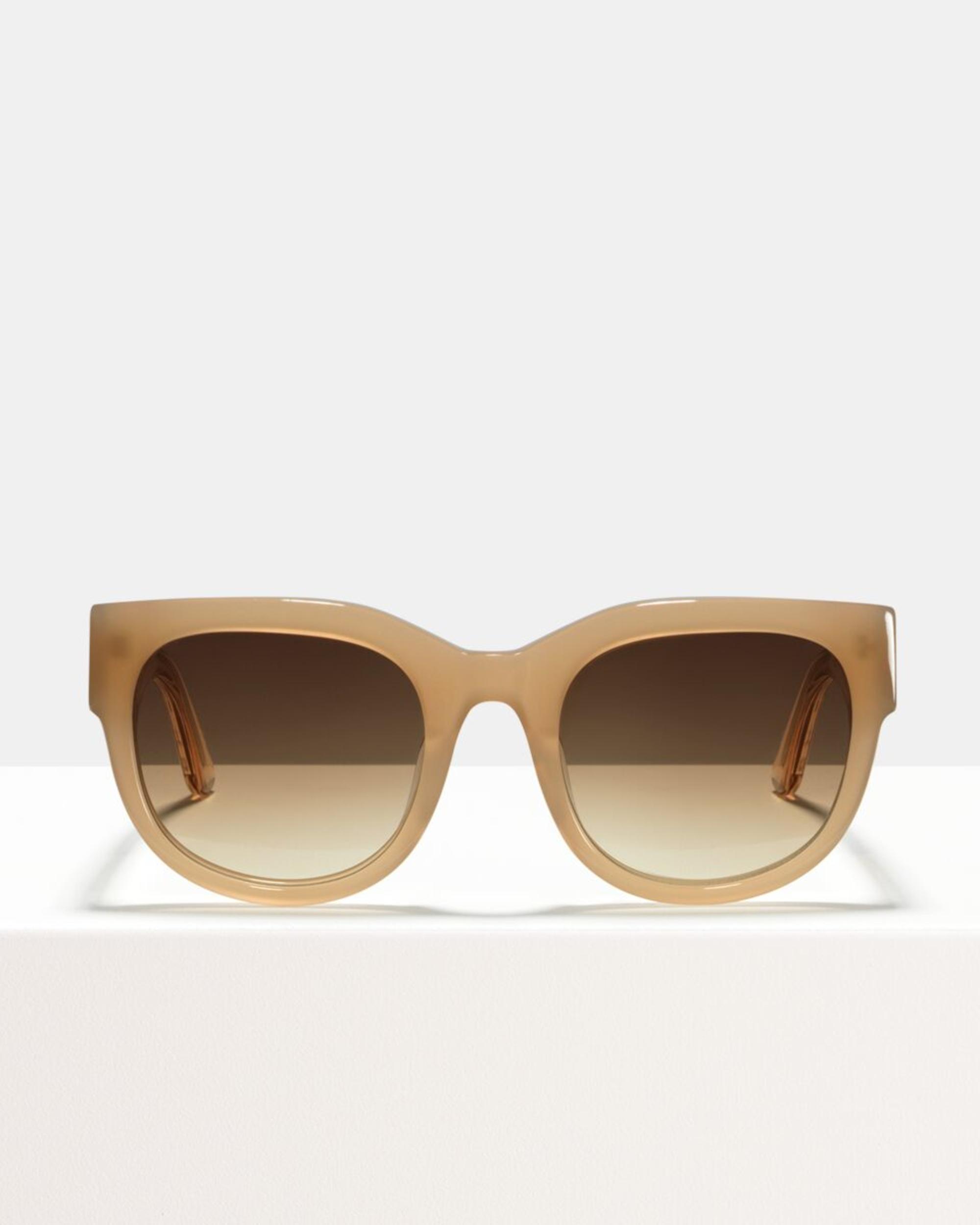Ace & Tate Sunglasses | round acetate in Beige