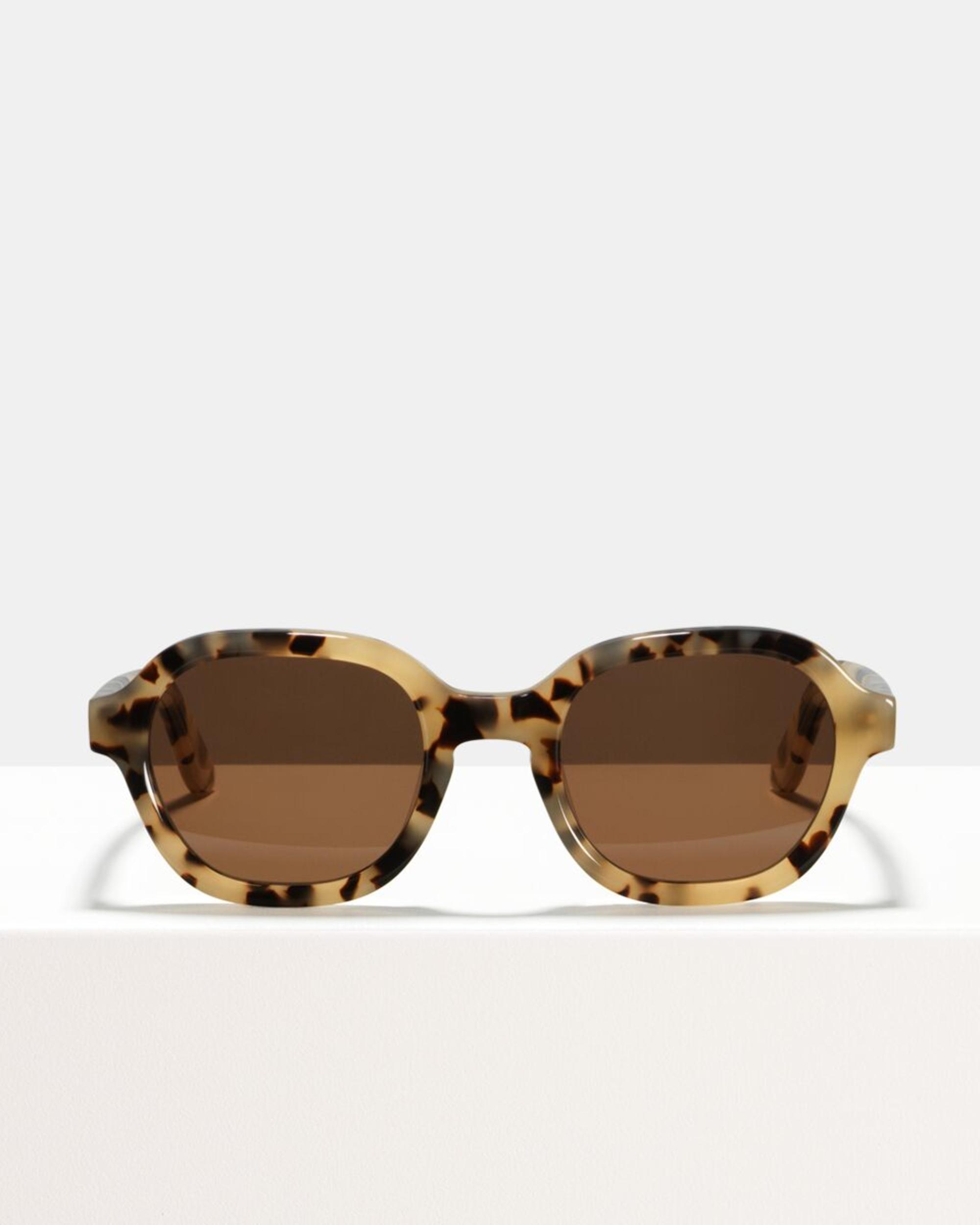 Ace & Tate Sunglasses | vierkant acetaat in Beige