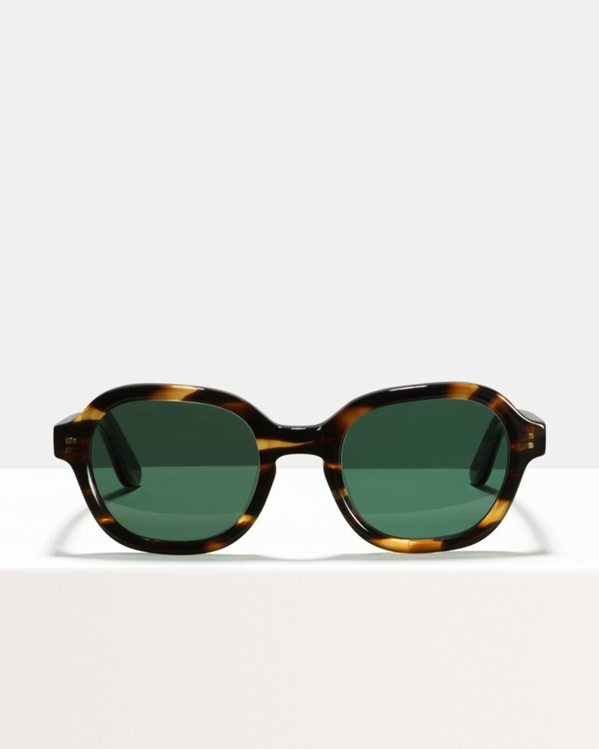 Ace & Tate Sunglasses | vierkant acetaat in Bruin, Oranje