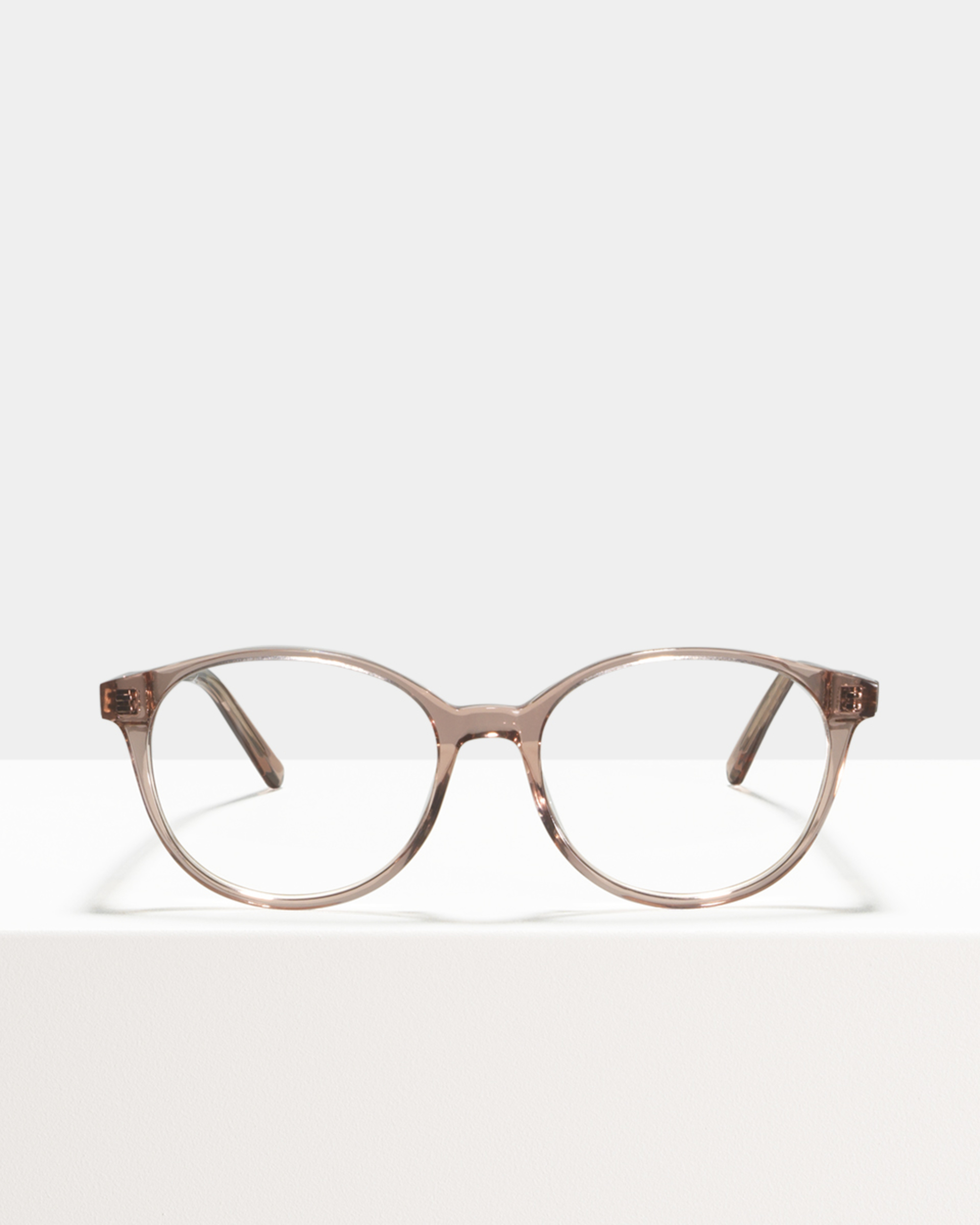 Ace & Tate Glasses | round acetate in Pink