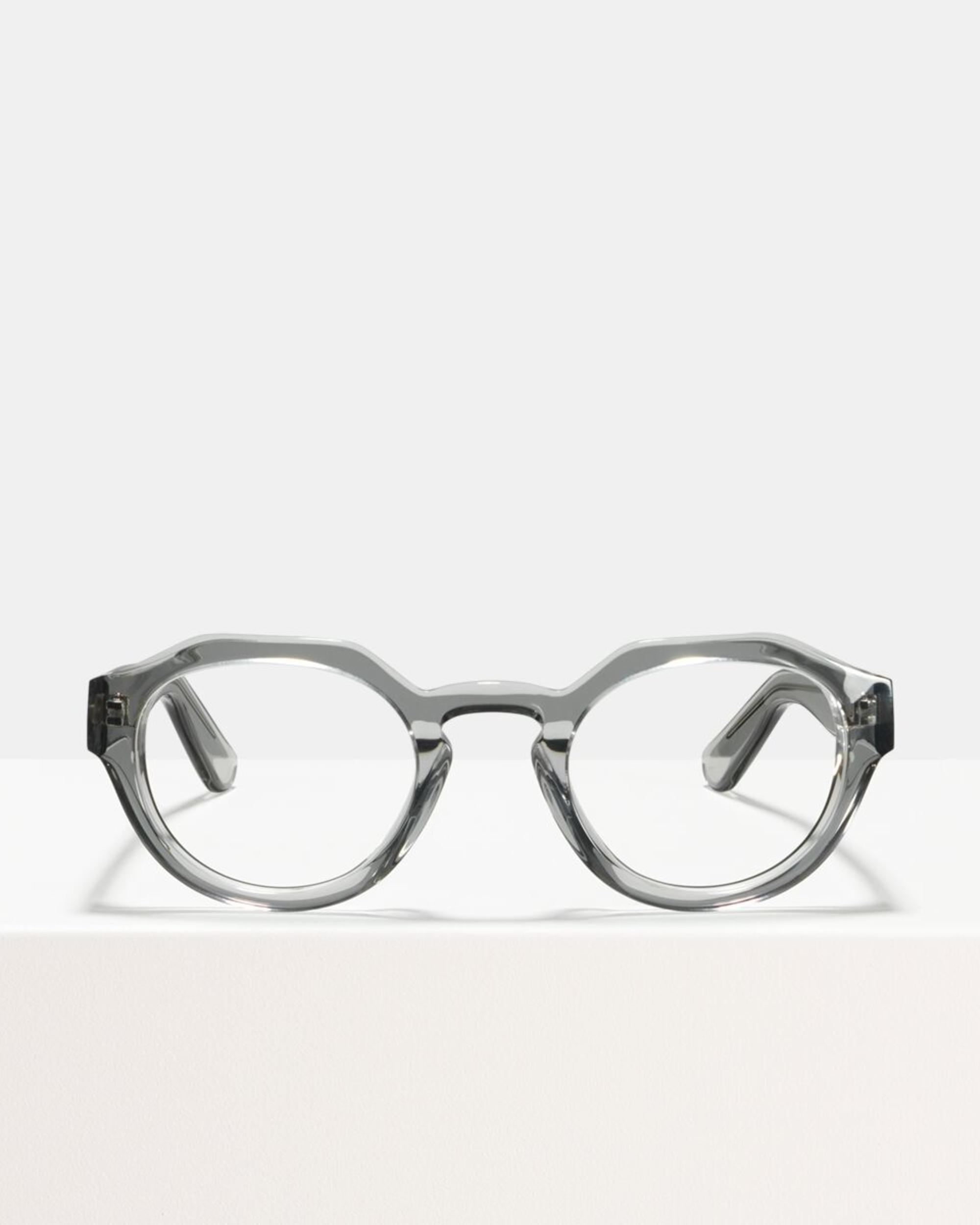 Ace & Tate Glasses | rond acetaat in Doorzichtig, Grijs