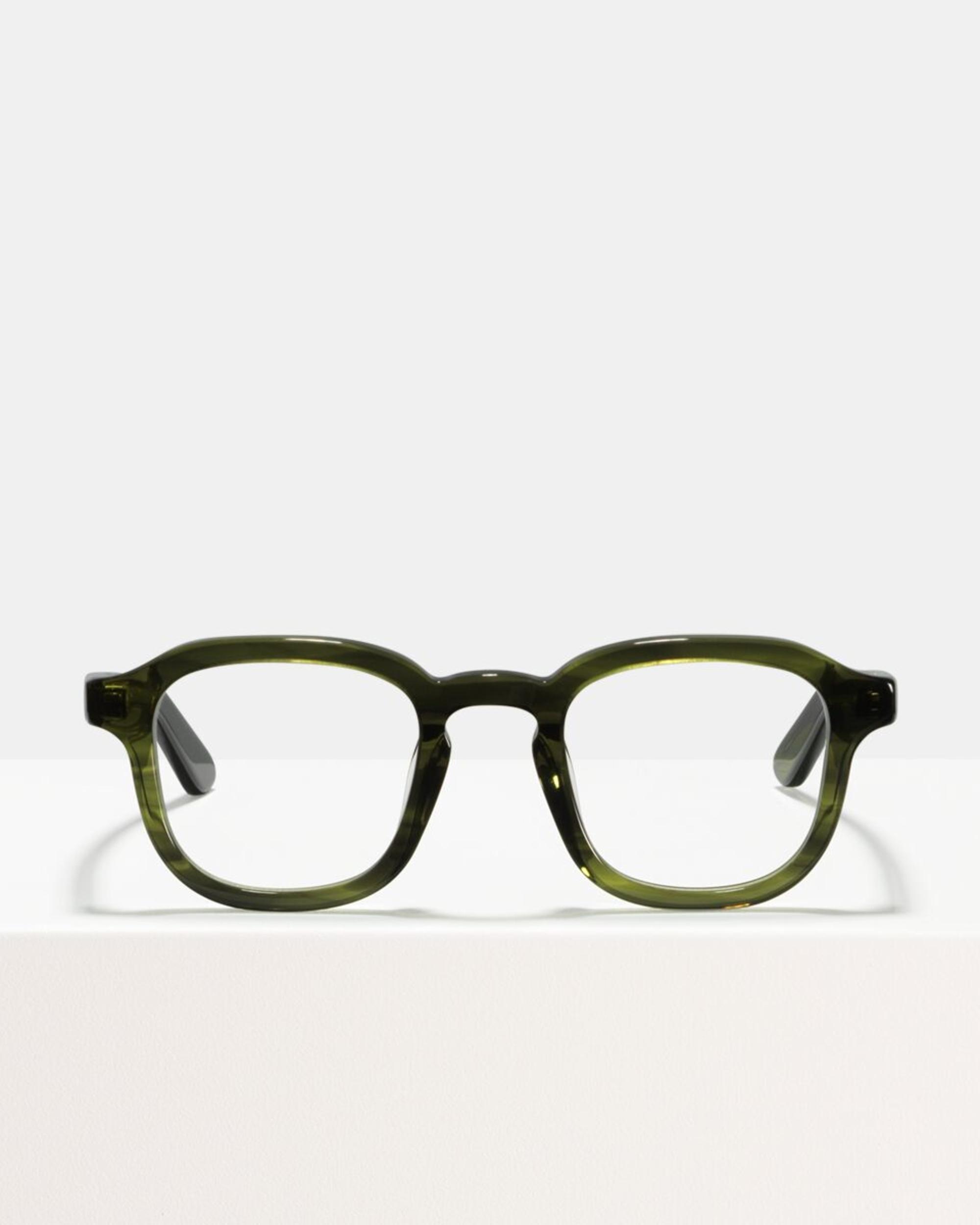 Ace & Tate Glasses | vierkant acetaat in Groen