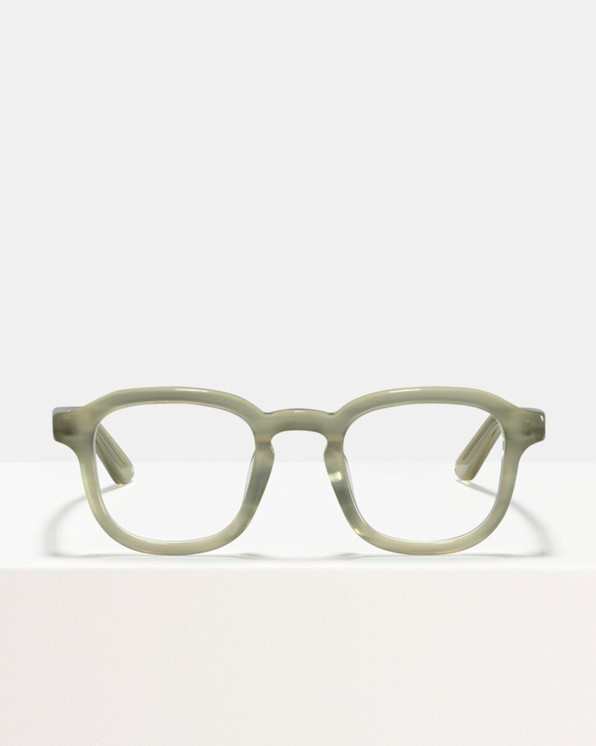 Ace & Tate Glasses | vierkant acetaat in Grijs, Wit