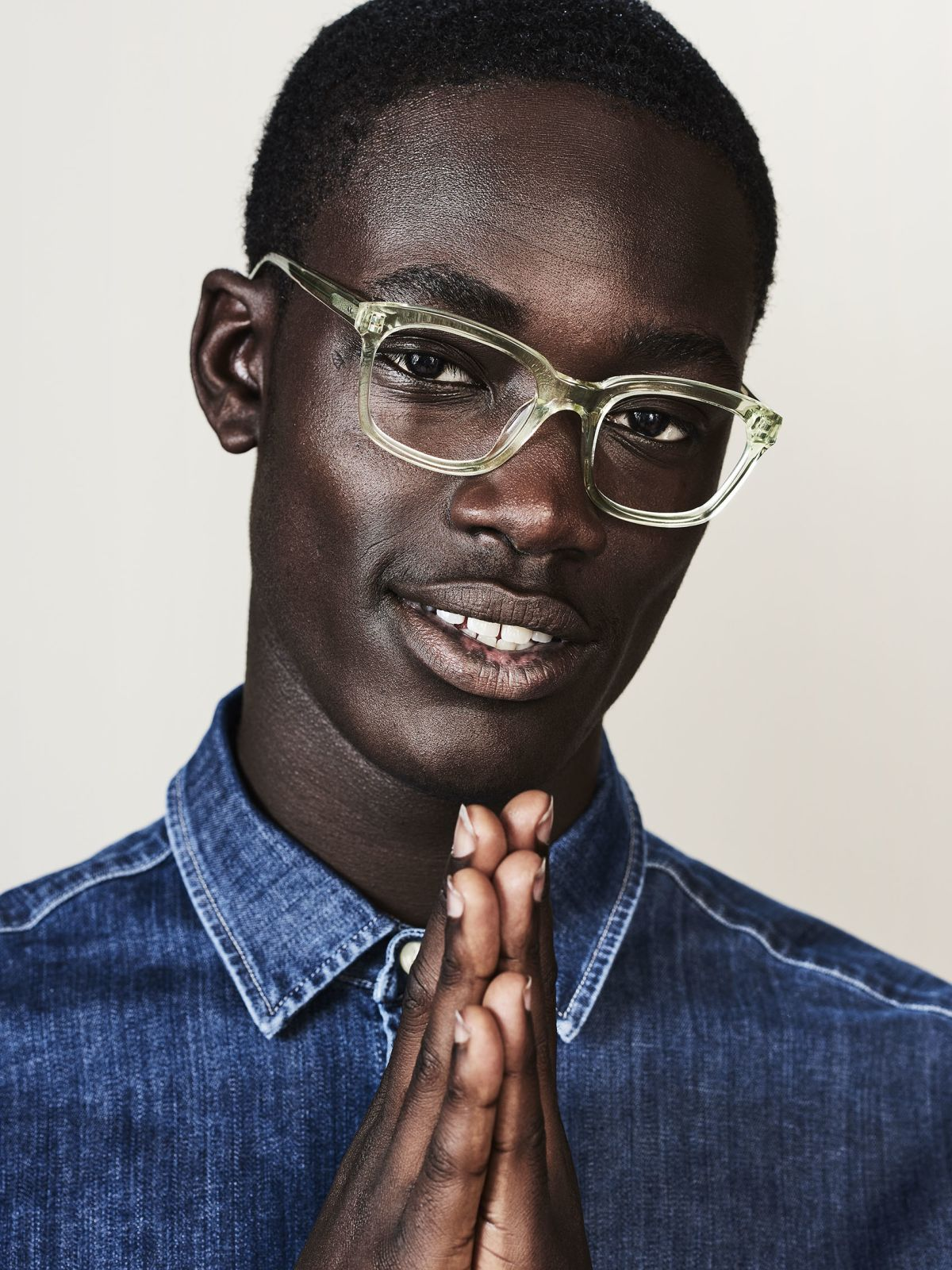 David square acetate glasses in Lime by Ace & Tate