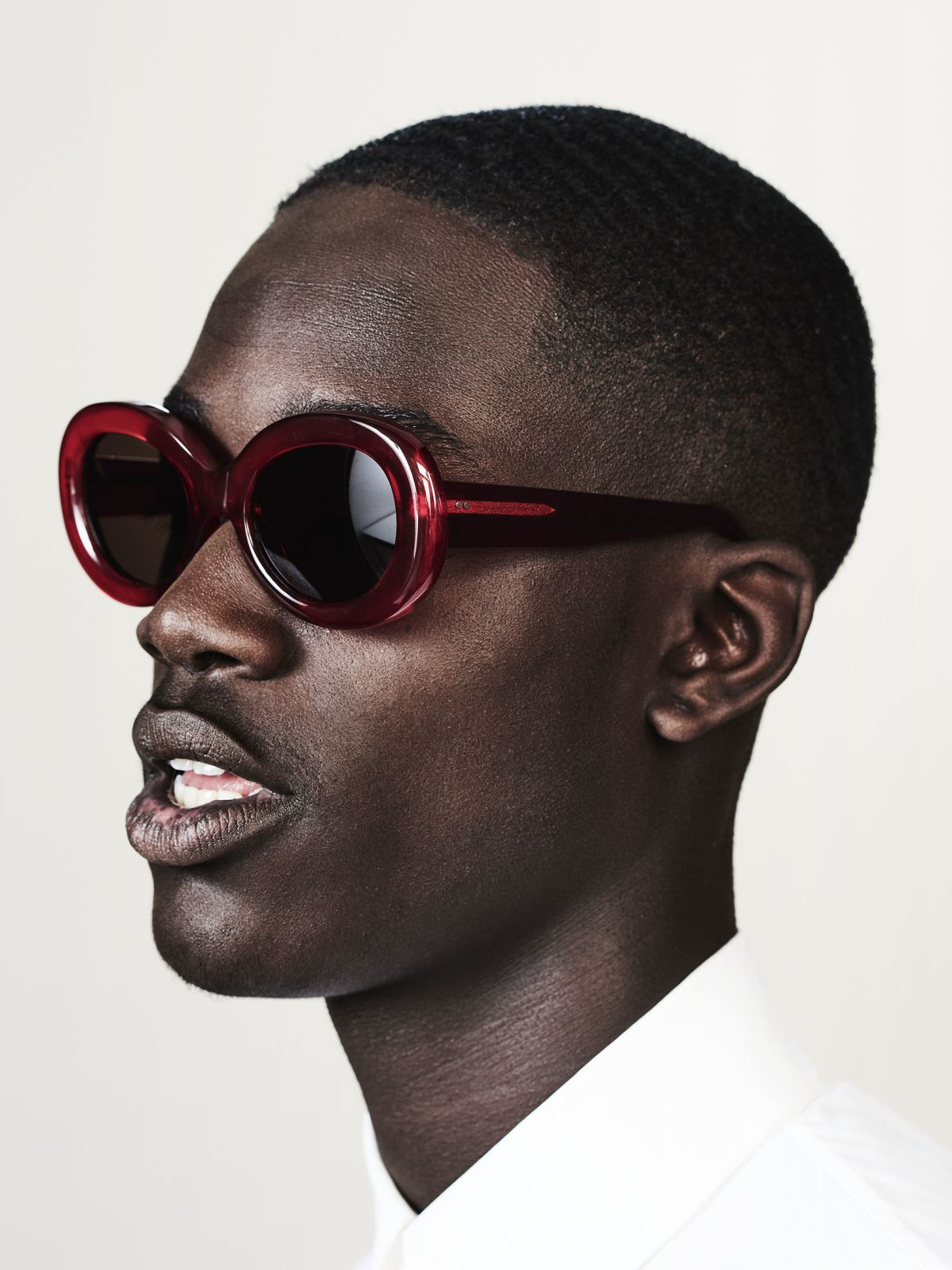 Frances oval acetate glasses in Poppy by Ace & Tate