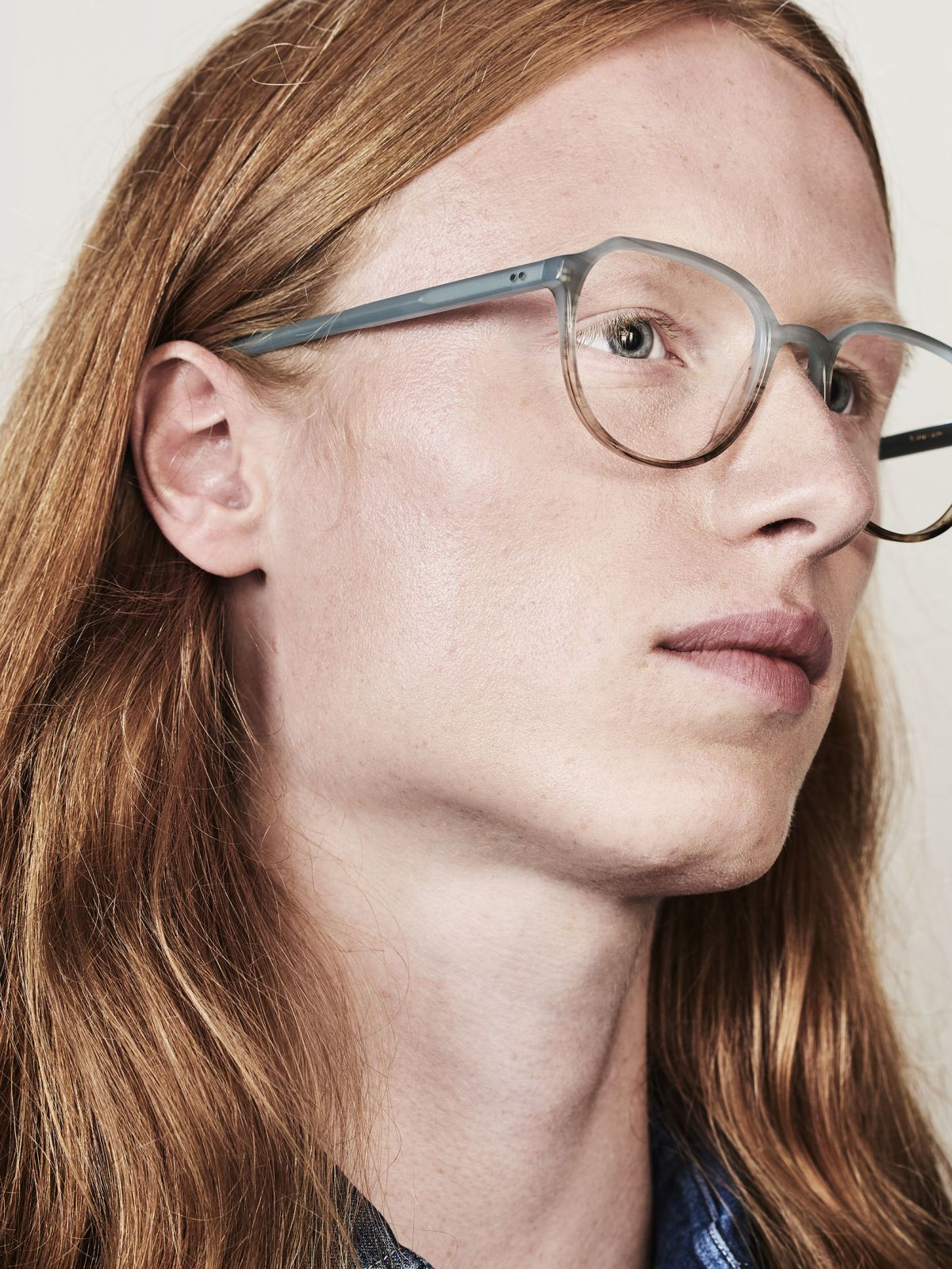 Stan round acetate glasses in Sea Salt by Ace & Tate