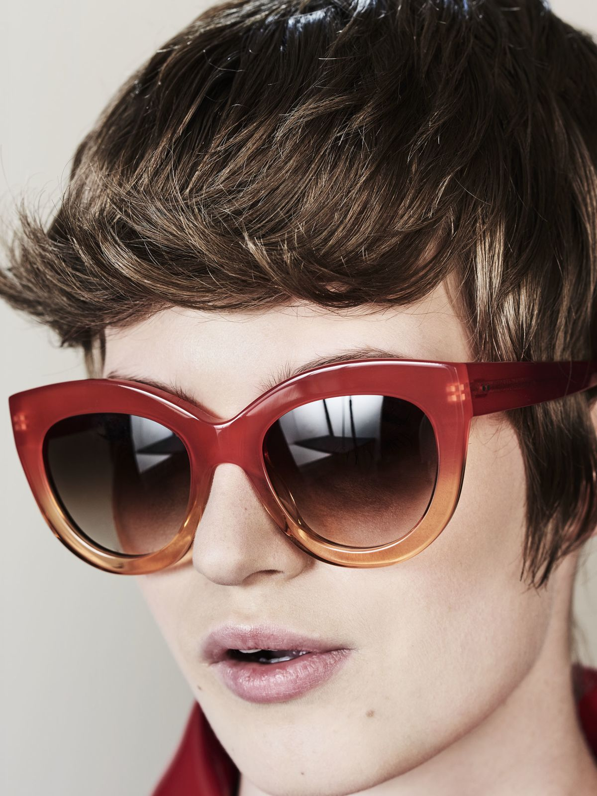 Vic round acetate glasses in Tangerine by Ace & Tate
