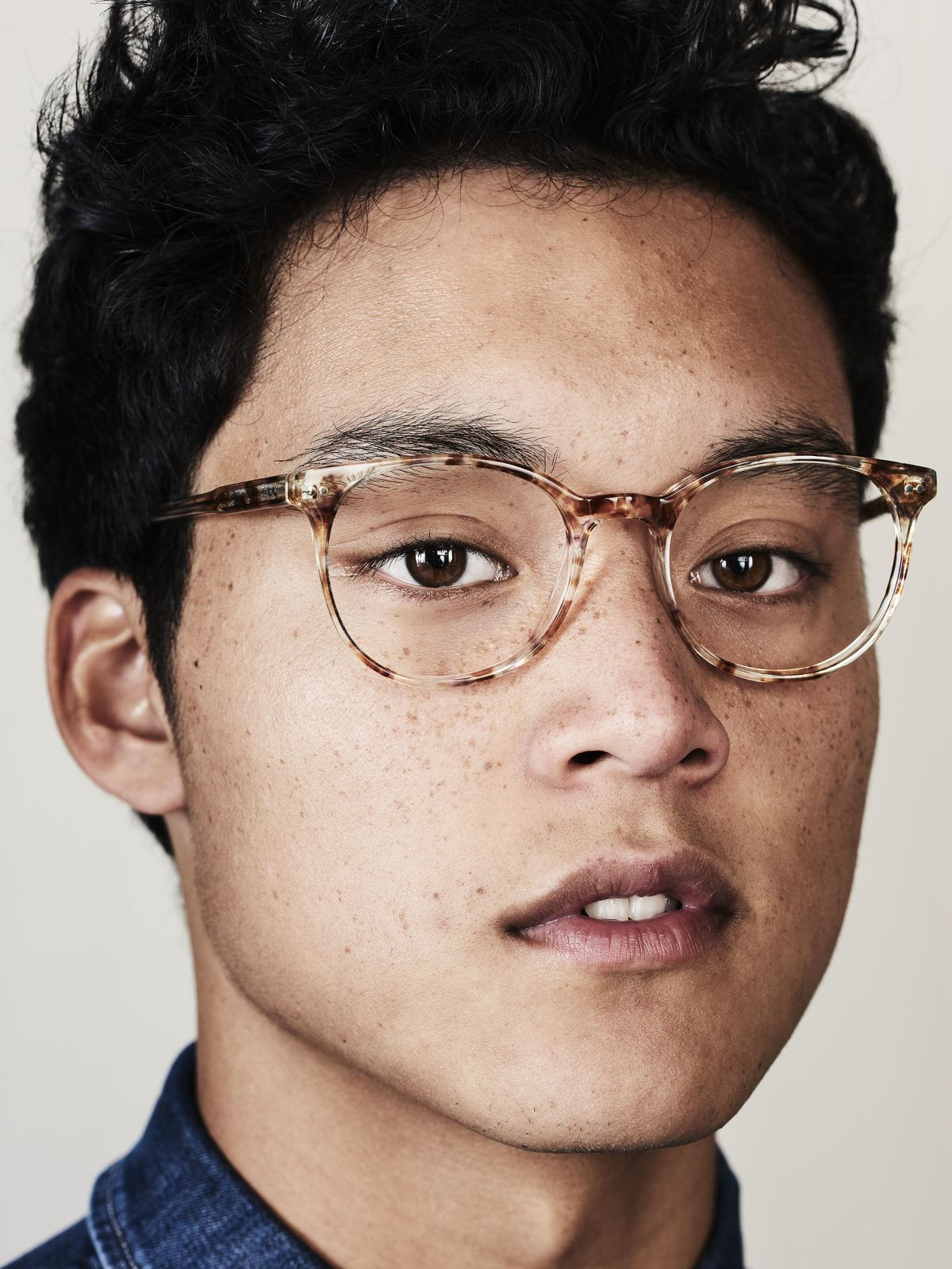 Wes round acetate glasses in Gold Dust by Ace & Tate