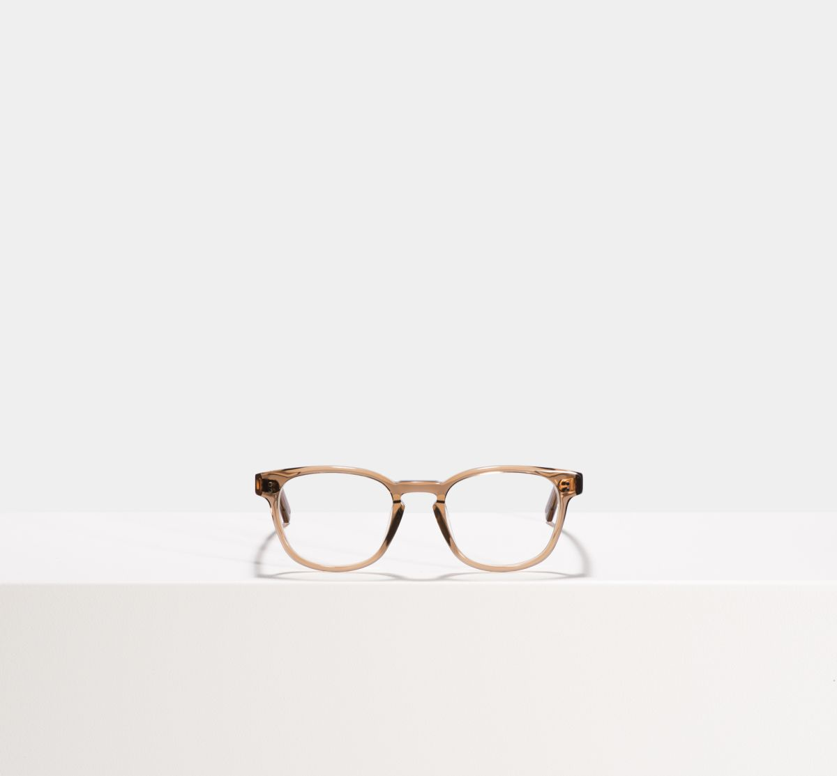 Alfred square acetate glasses in Golden Brown by Ace & Tate