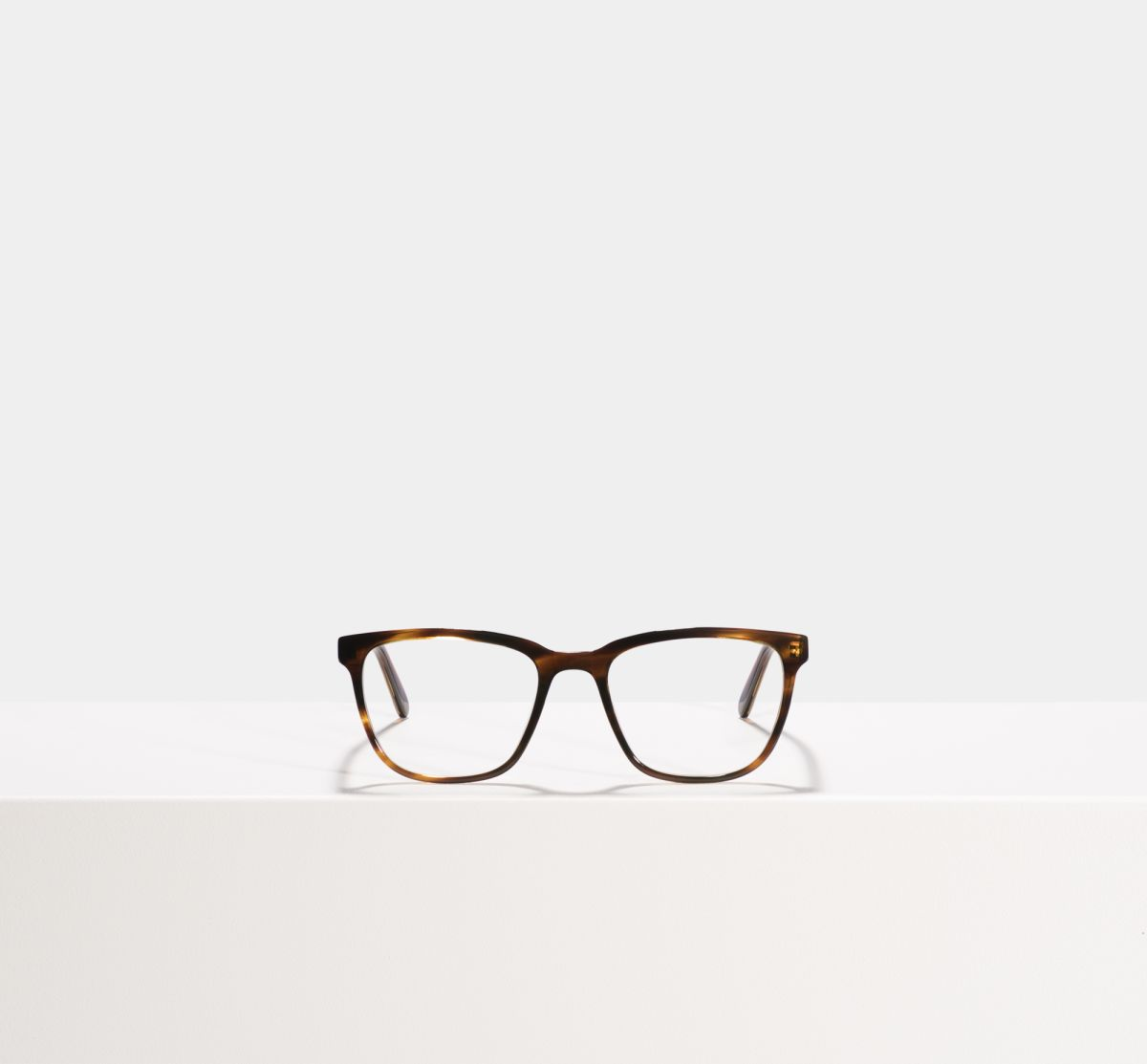 Cash square acetate glasses in Tiger Wood by Ace & Tate