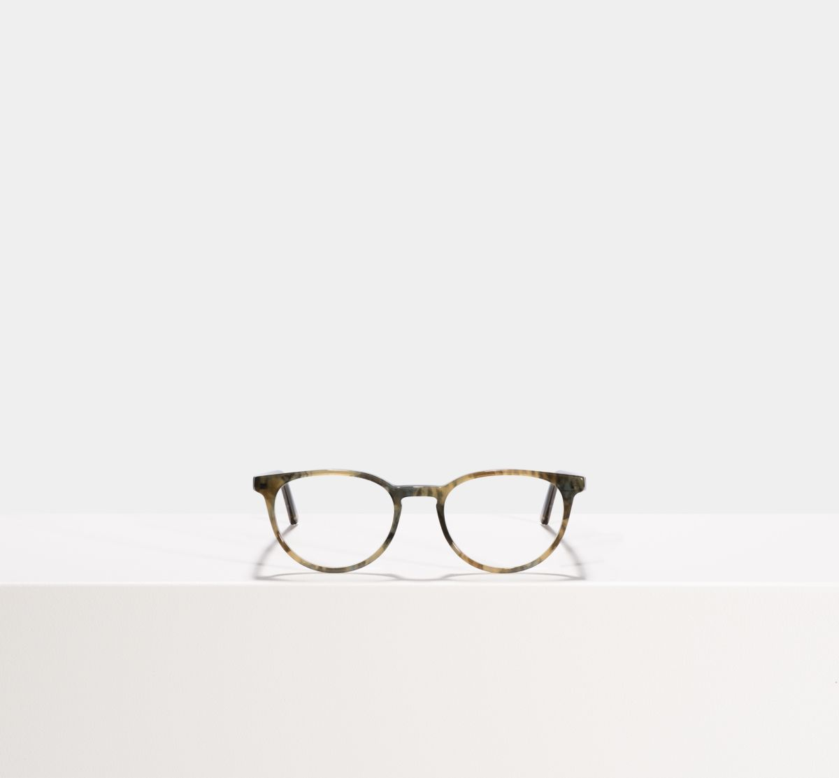 Damien rund Acetat glasses in Marbled Green by Ace & Tate
