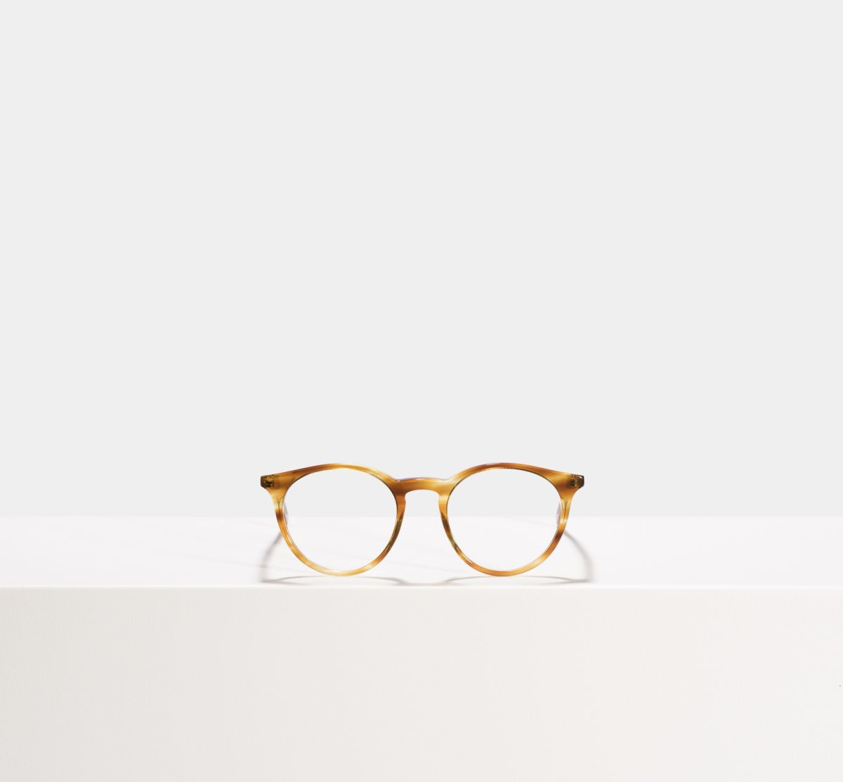 Easton rond acetaat glasses in Caramel Havana by Ace & Tate