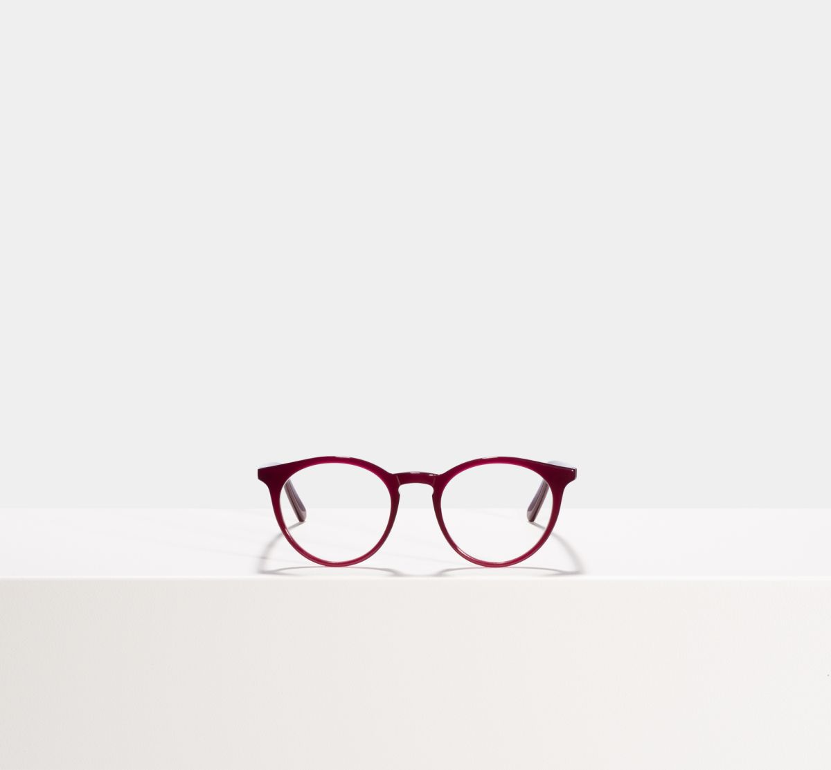 Easton round acetate glasses in Classy Burgundy by Ace & Tate