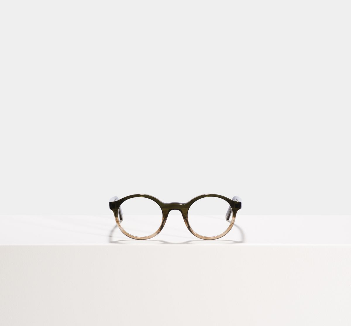 Jamie rund Acetat glasses in Olive Gradient by Ace & Tate