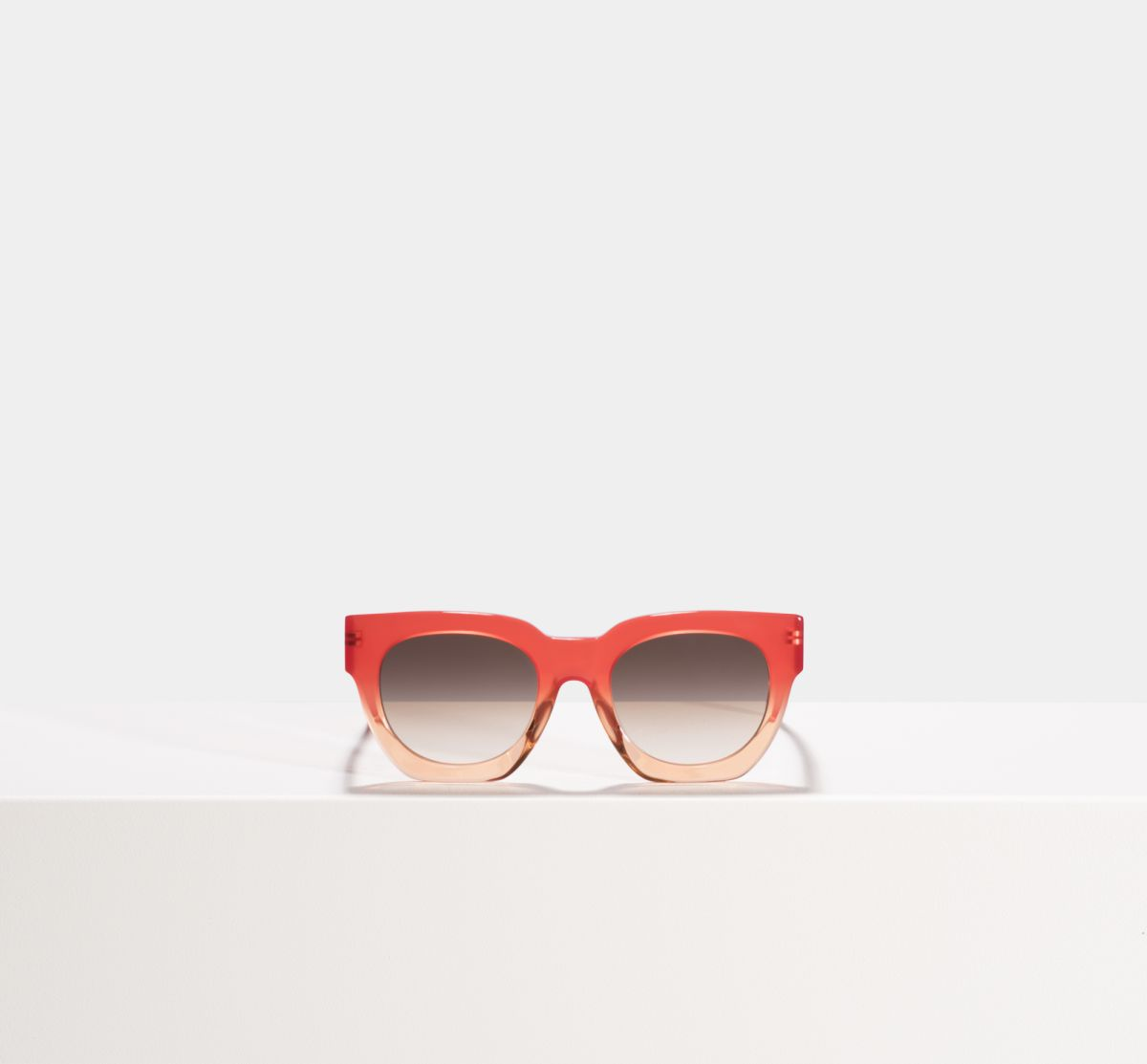 Jo rund Acetat glasses in Tangerine by Ace & Tate