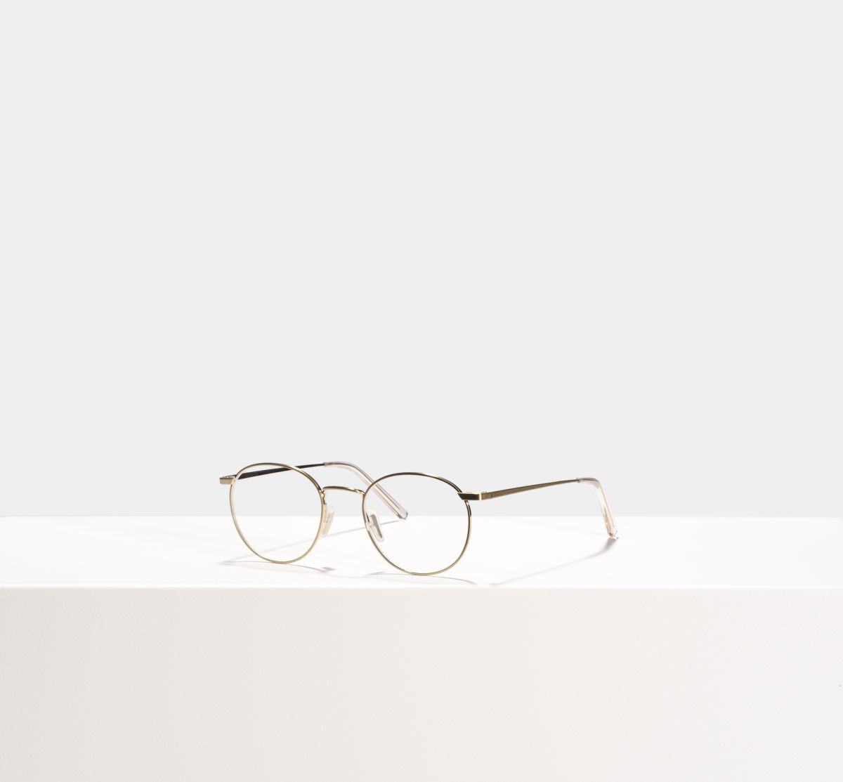Neil rond metaal glasses in Satin Gold by Ace & Tate