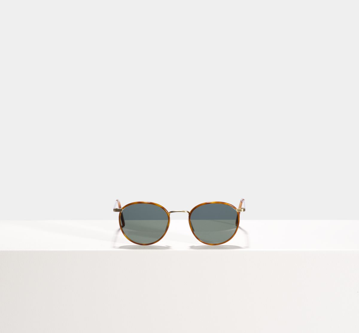 Neil round metal glasses in Desert Spice by Ace & Tate