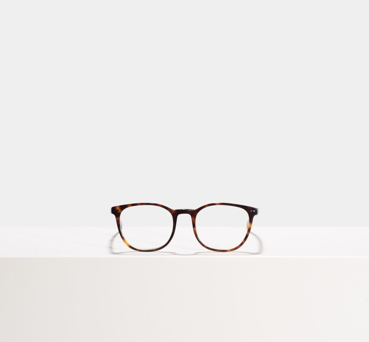 Saul rund Acetat glasses in Hazelnut Tortoise by Ace & Tate