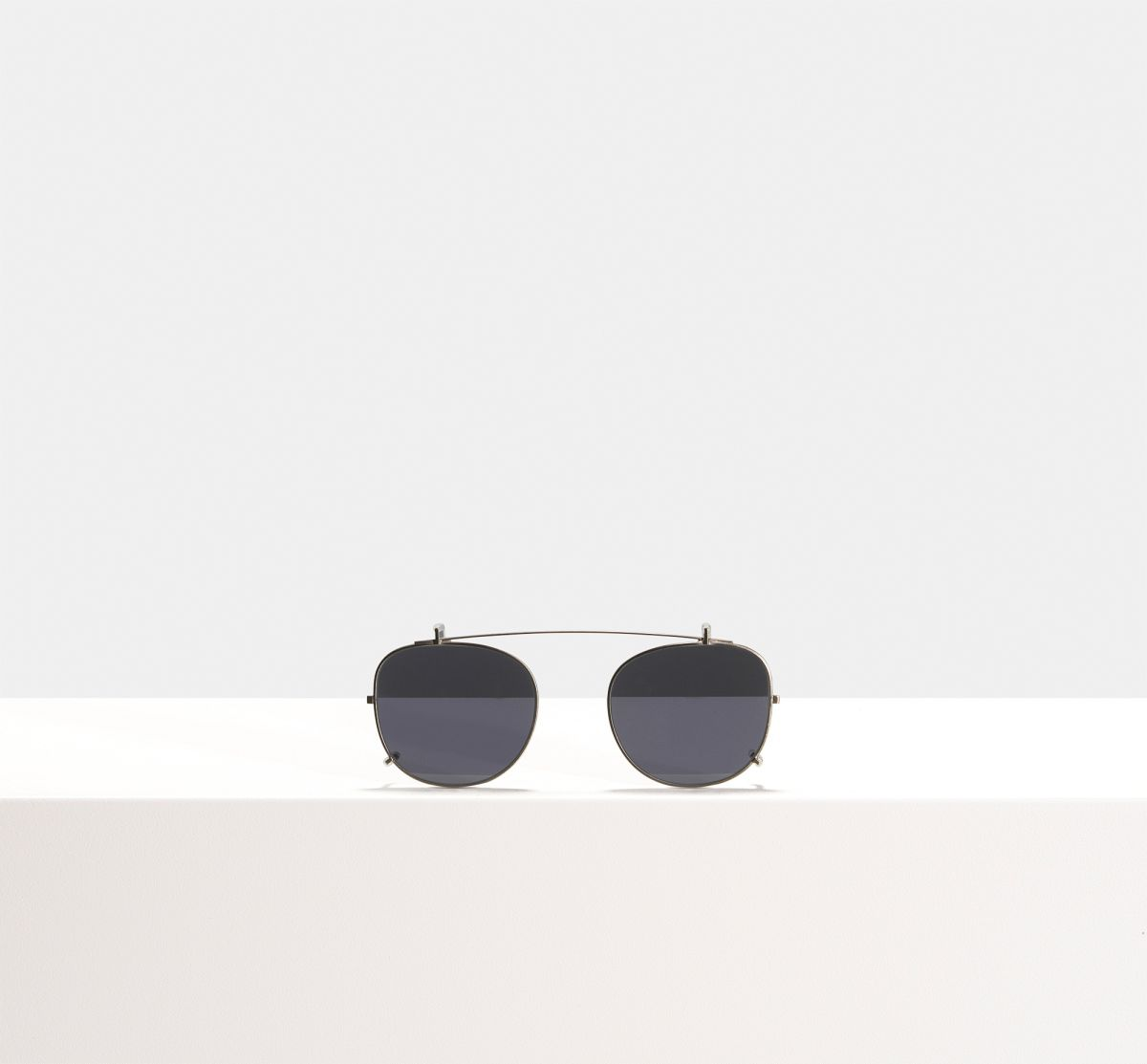 Milan clip-on other metal glasses in Gunmetal by Ace & Tate