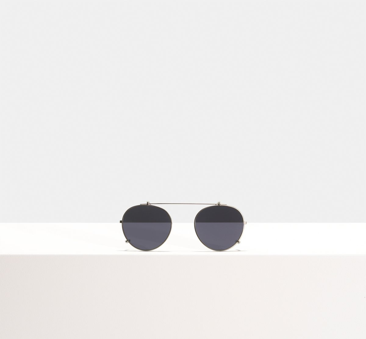Pierce clip-on other metal glasses in Gunmetal by Ace & Tate