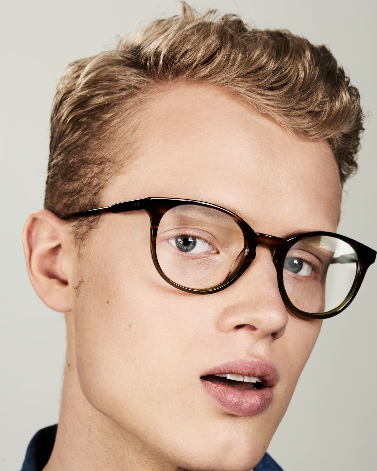 Miles Large round acetate glasses in Hunter Green by Ace & Tate